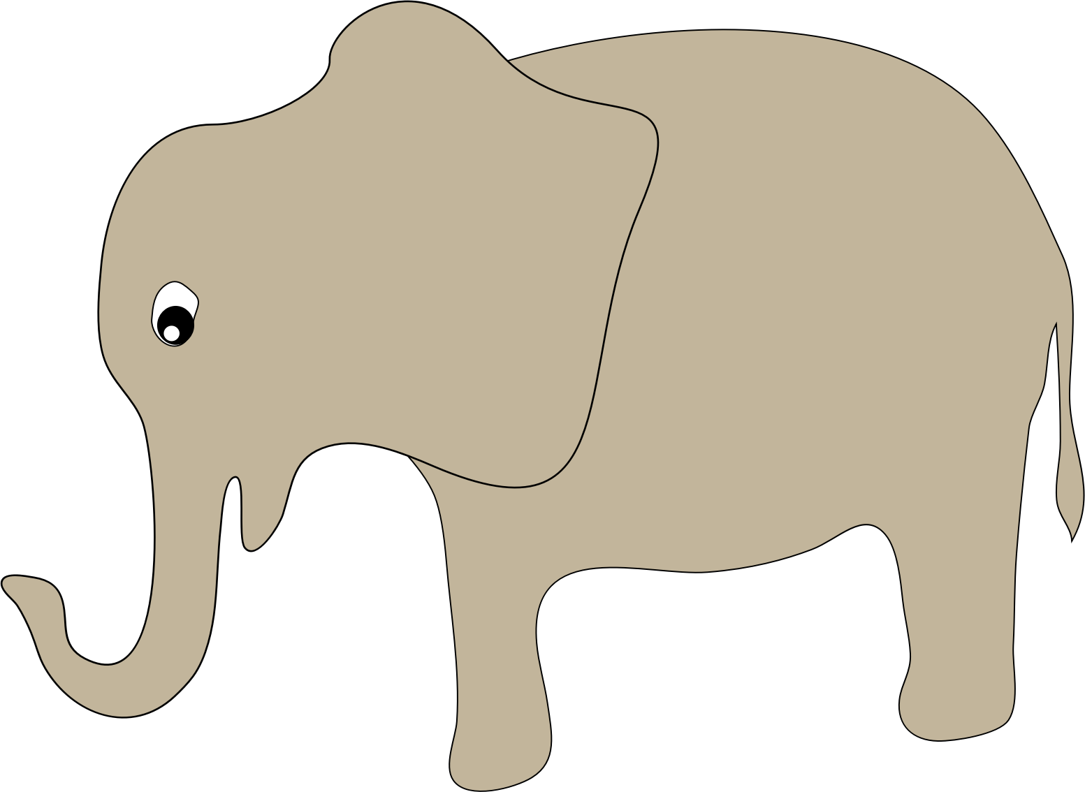hand drawn elephant  by redglove