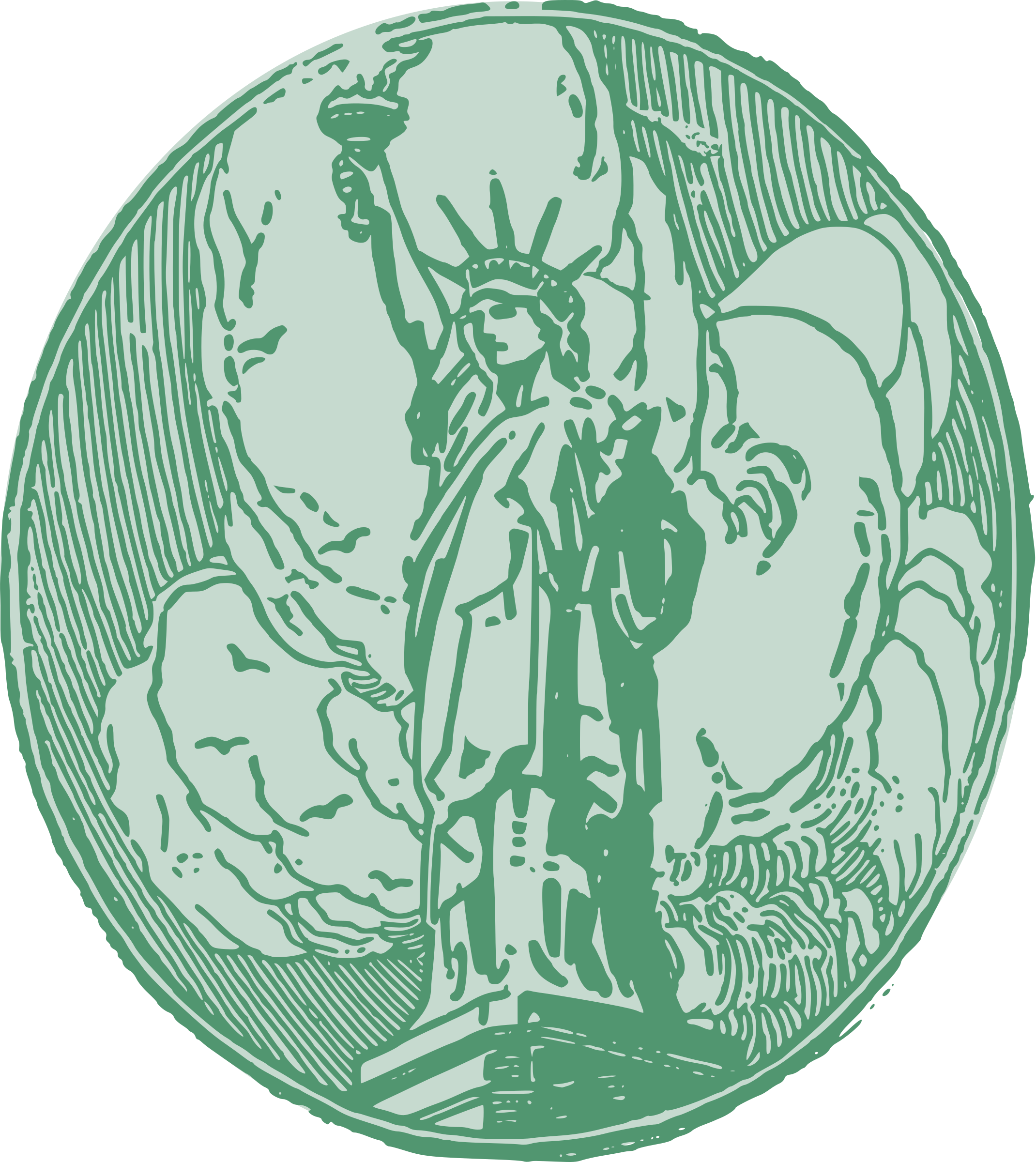 Statue of Liberty Circle by j4p4n