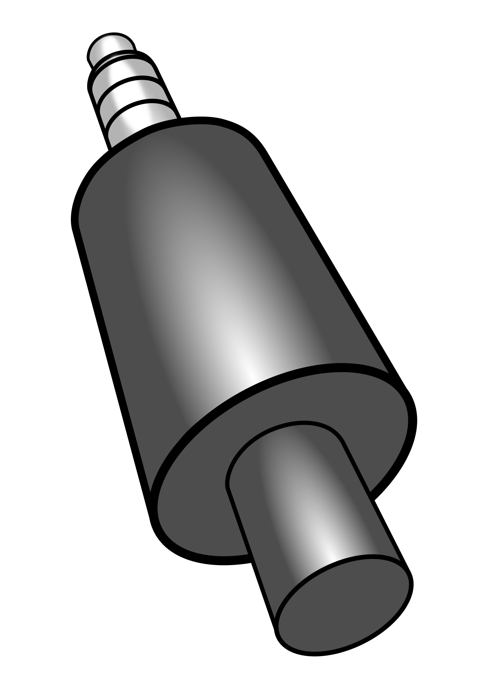 Clipart - Headphone Plug Stereo Plus Mic 3D