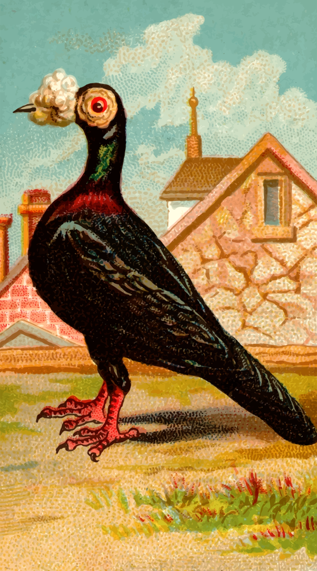 Cigarette card - Carrier Pigeon by Firkin