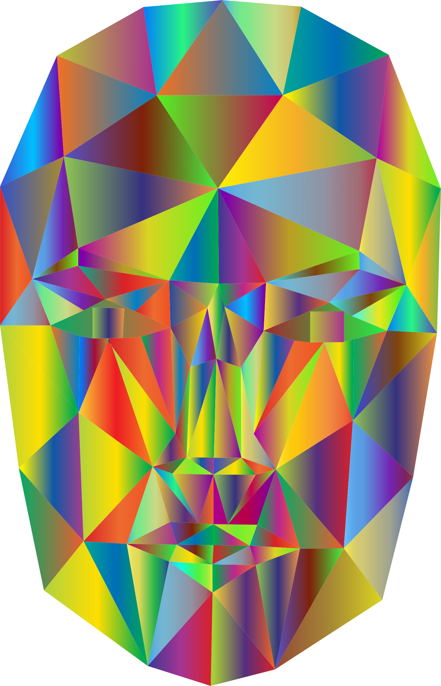 Prismatic Wireframe Head 2 by GDJ