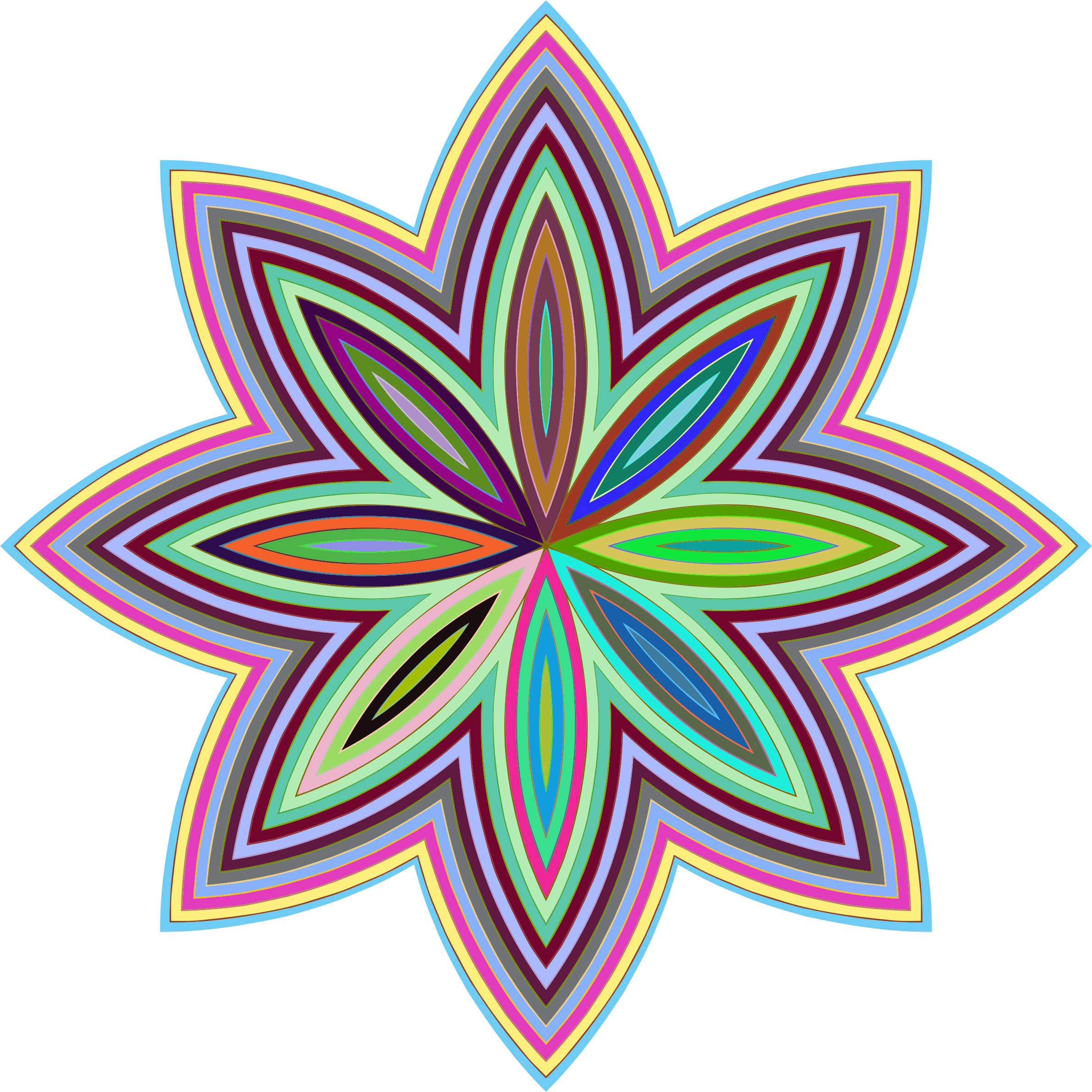 Prismatic Floral Line Art by GDJ