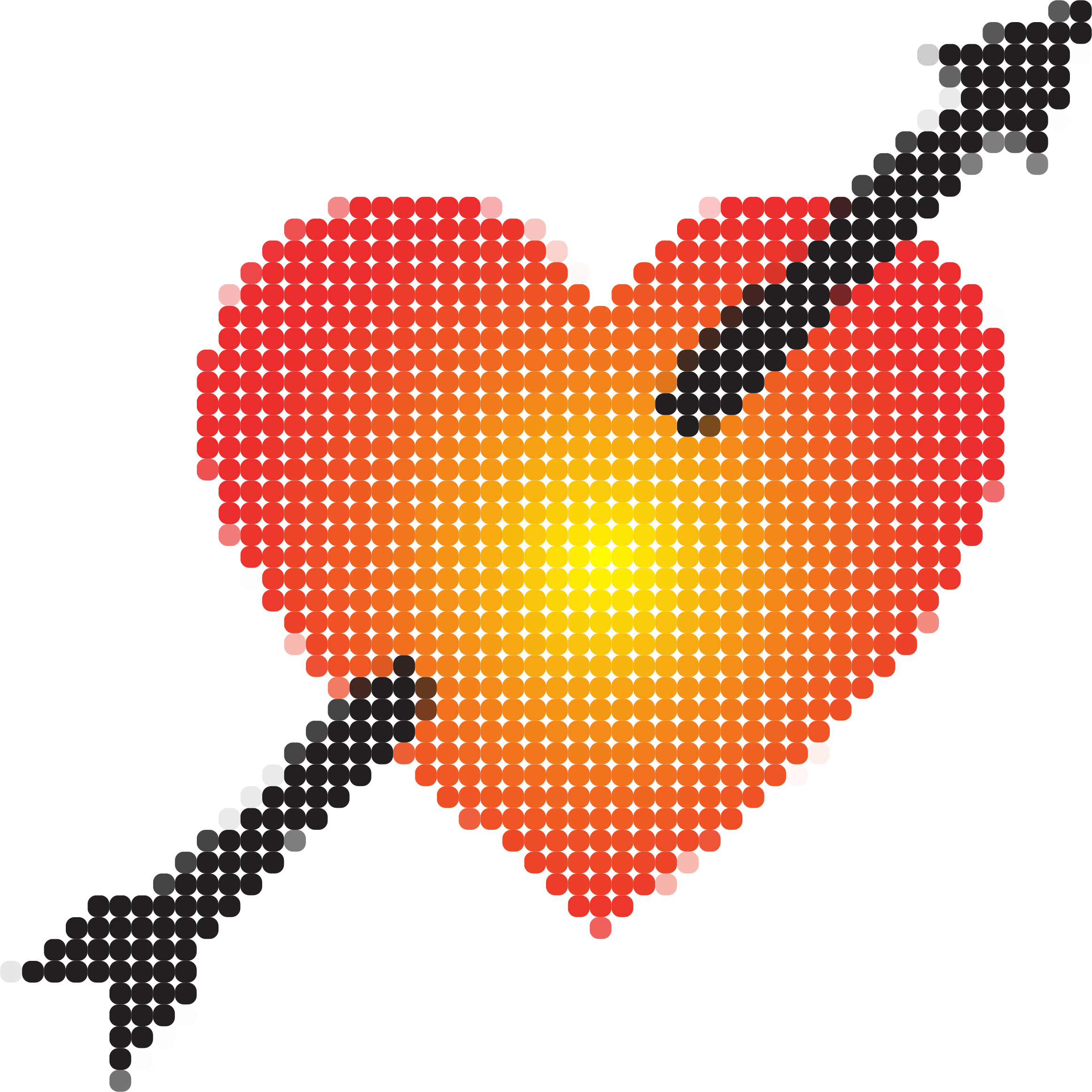 Heart Pierced By Arrow Mosaic by GDJ