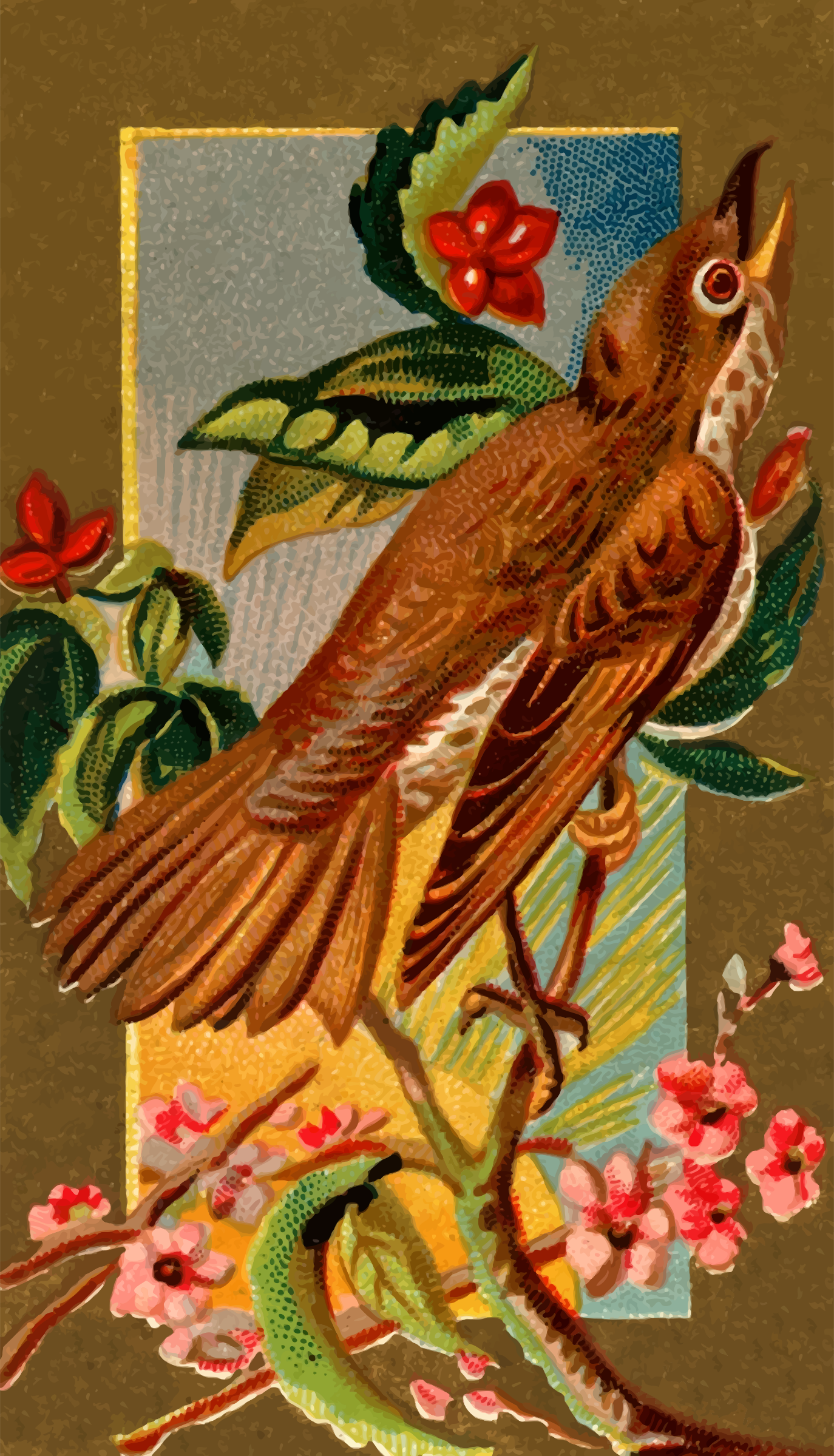 Cigarette card - Wood Thrush by Firkin