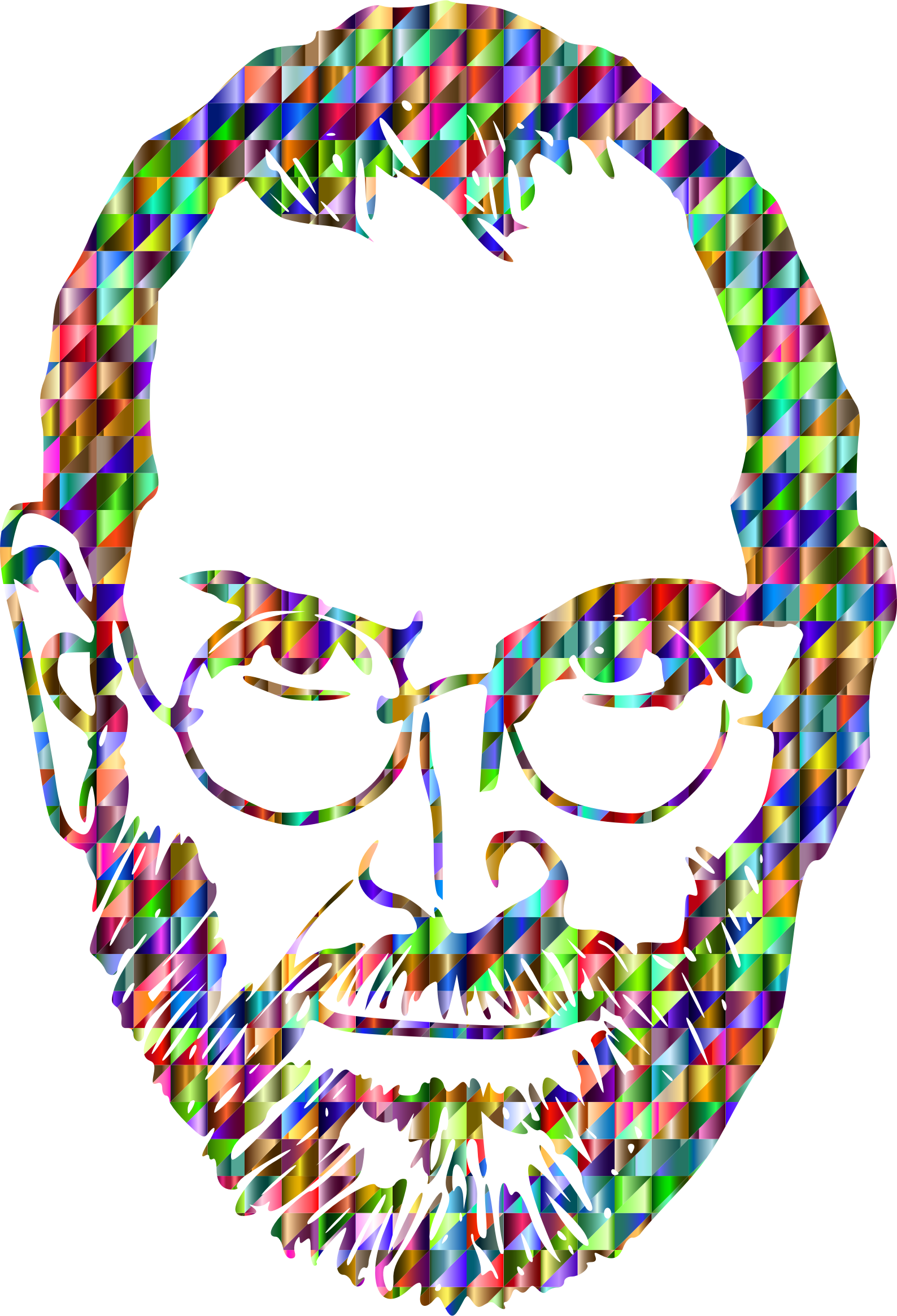 Chromatic Triangular Steve Jobs by GDJ