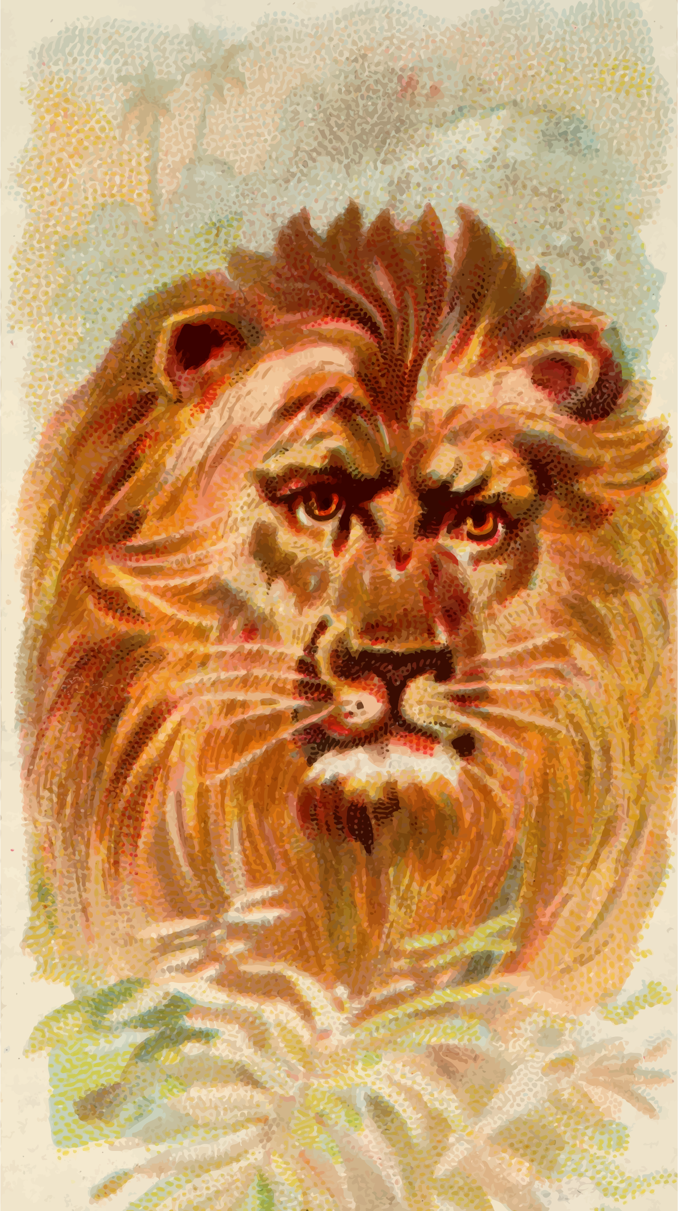Cigarette card - Lion by Firkin