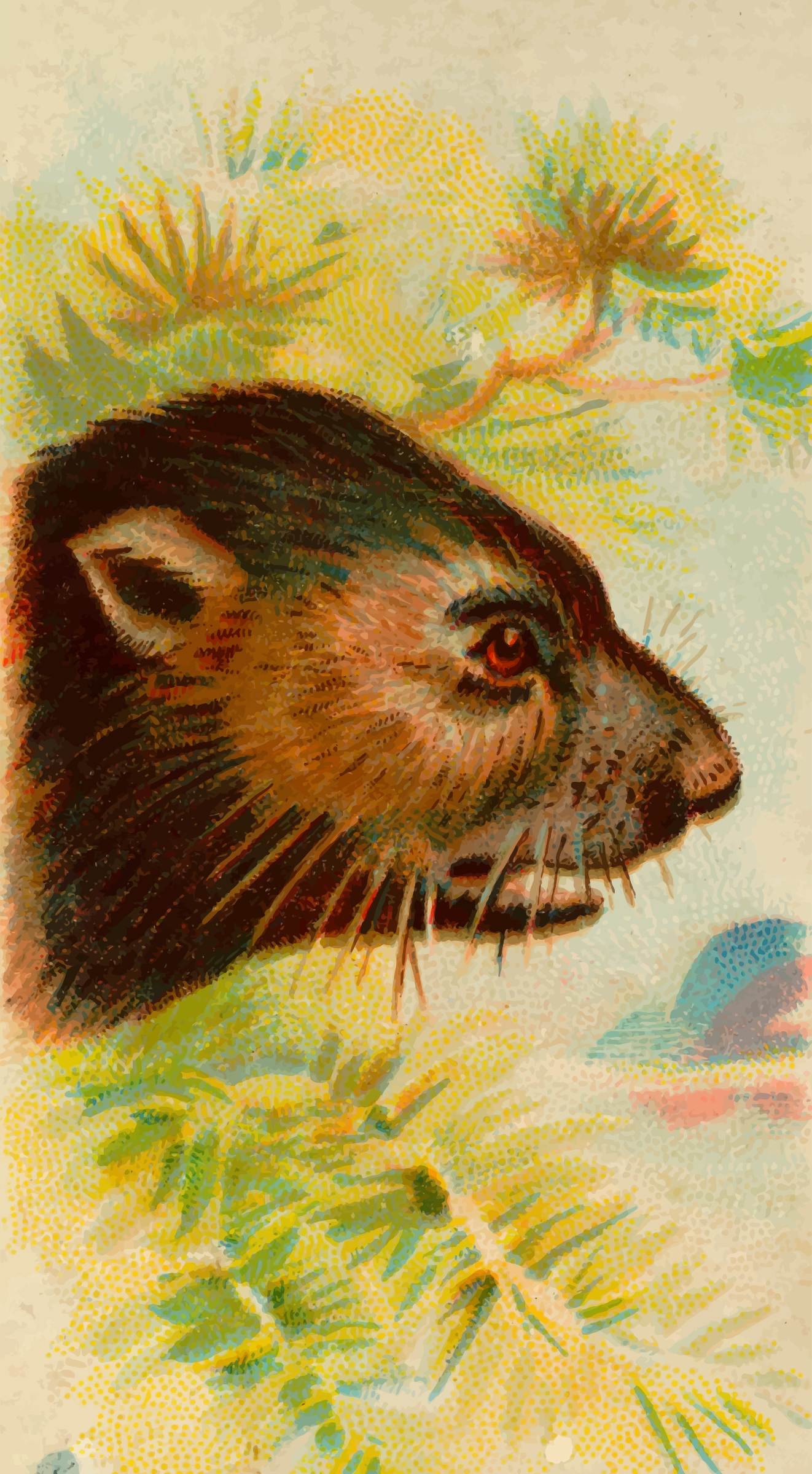 Cigarette card - Tasmanian devil by Firkin