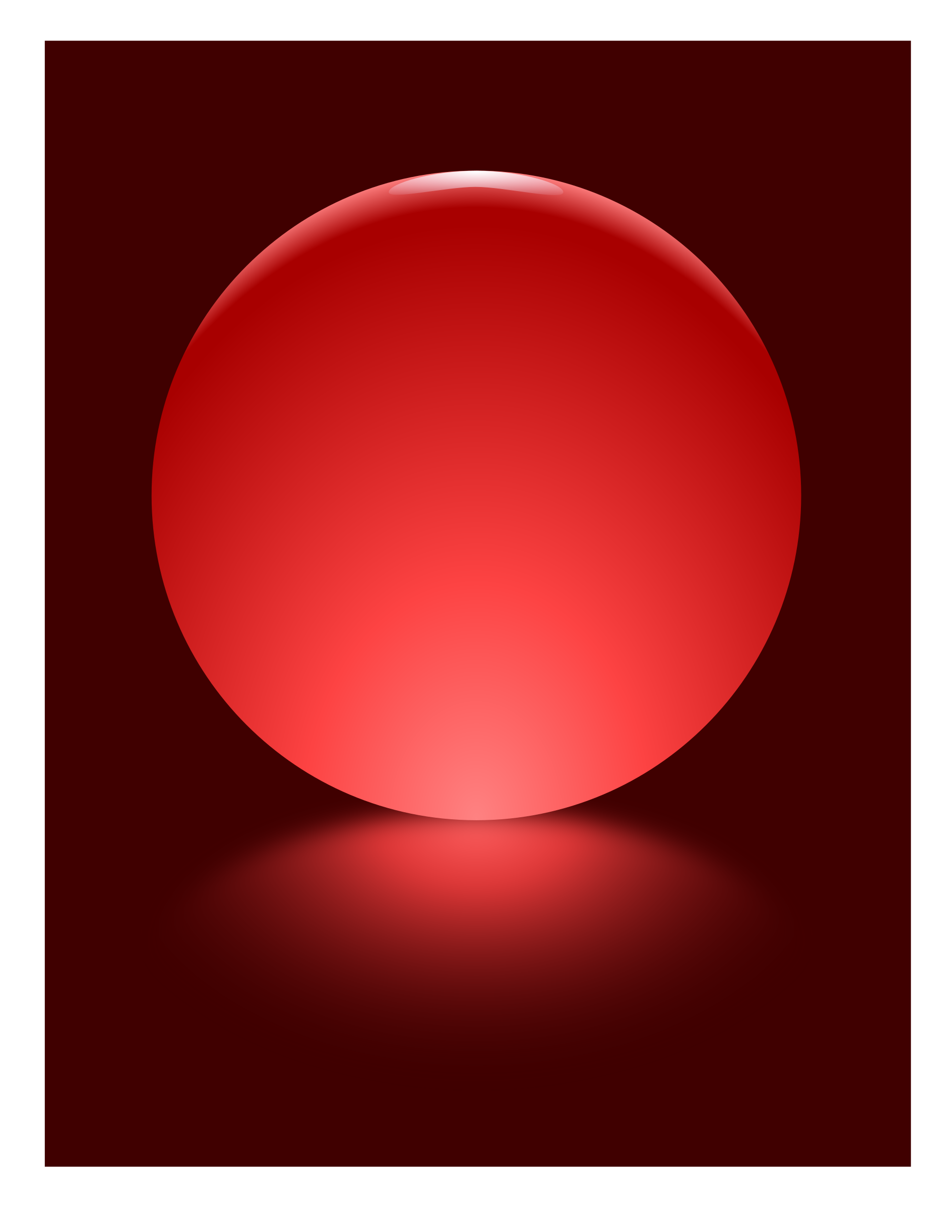 Red Sphere Blurred Reflection by djpaul