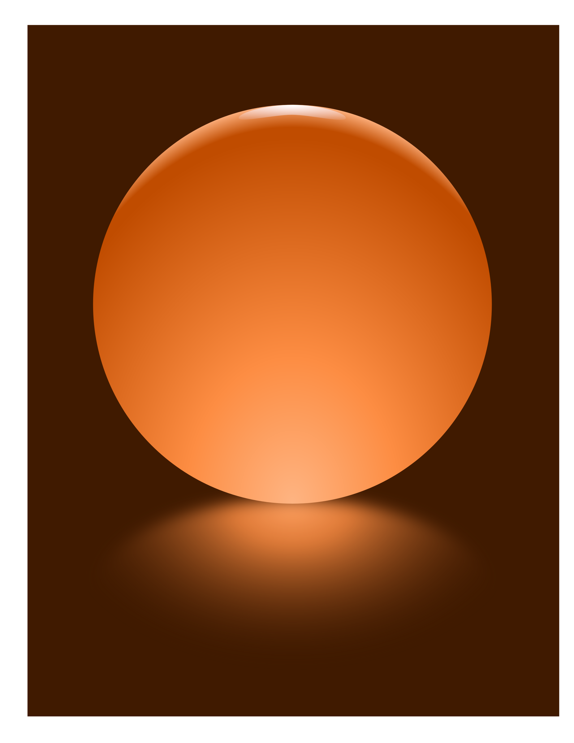 Orange Sphere Blurred Reflection by djpaul