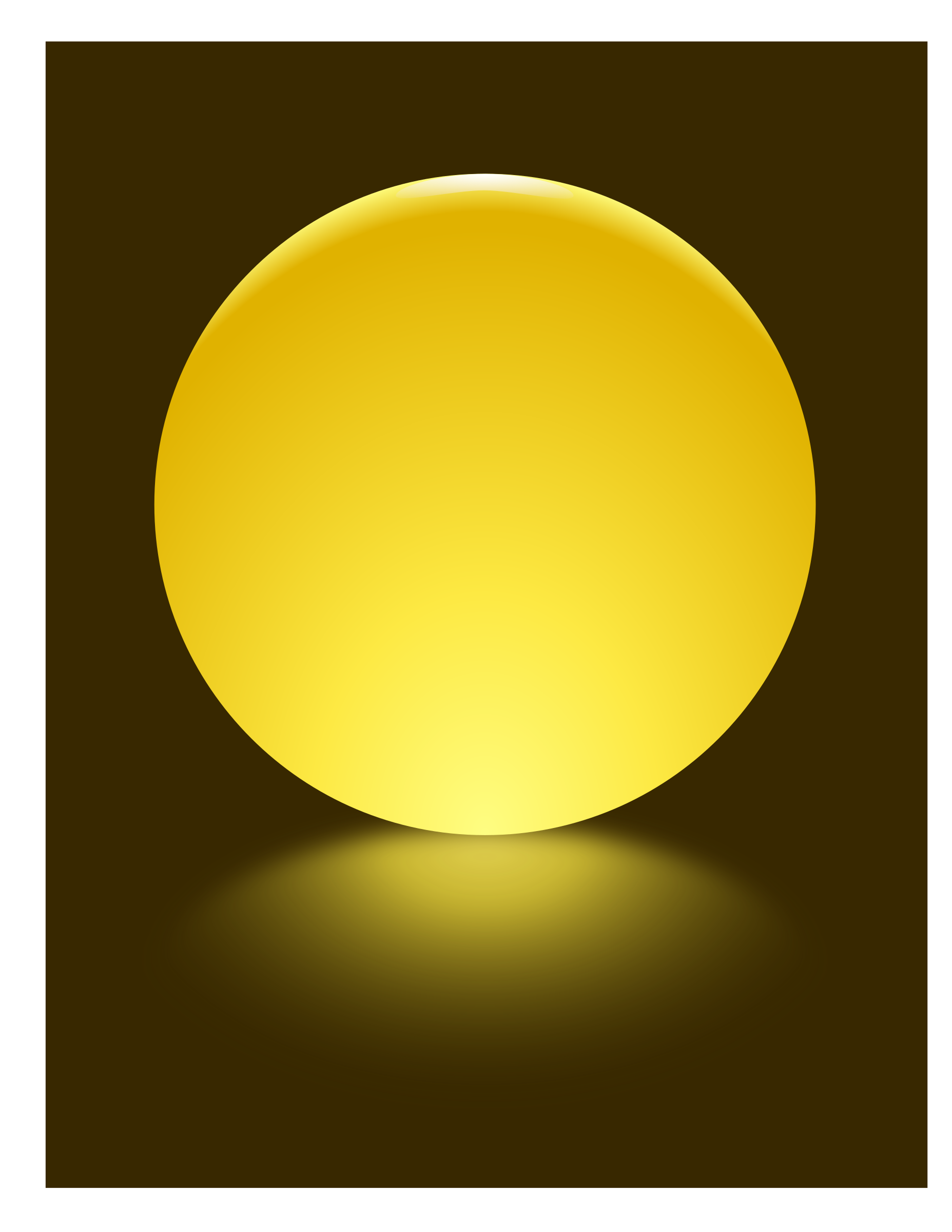Yellow Sphere Blurred Reflection by djpaul