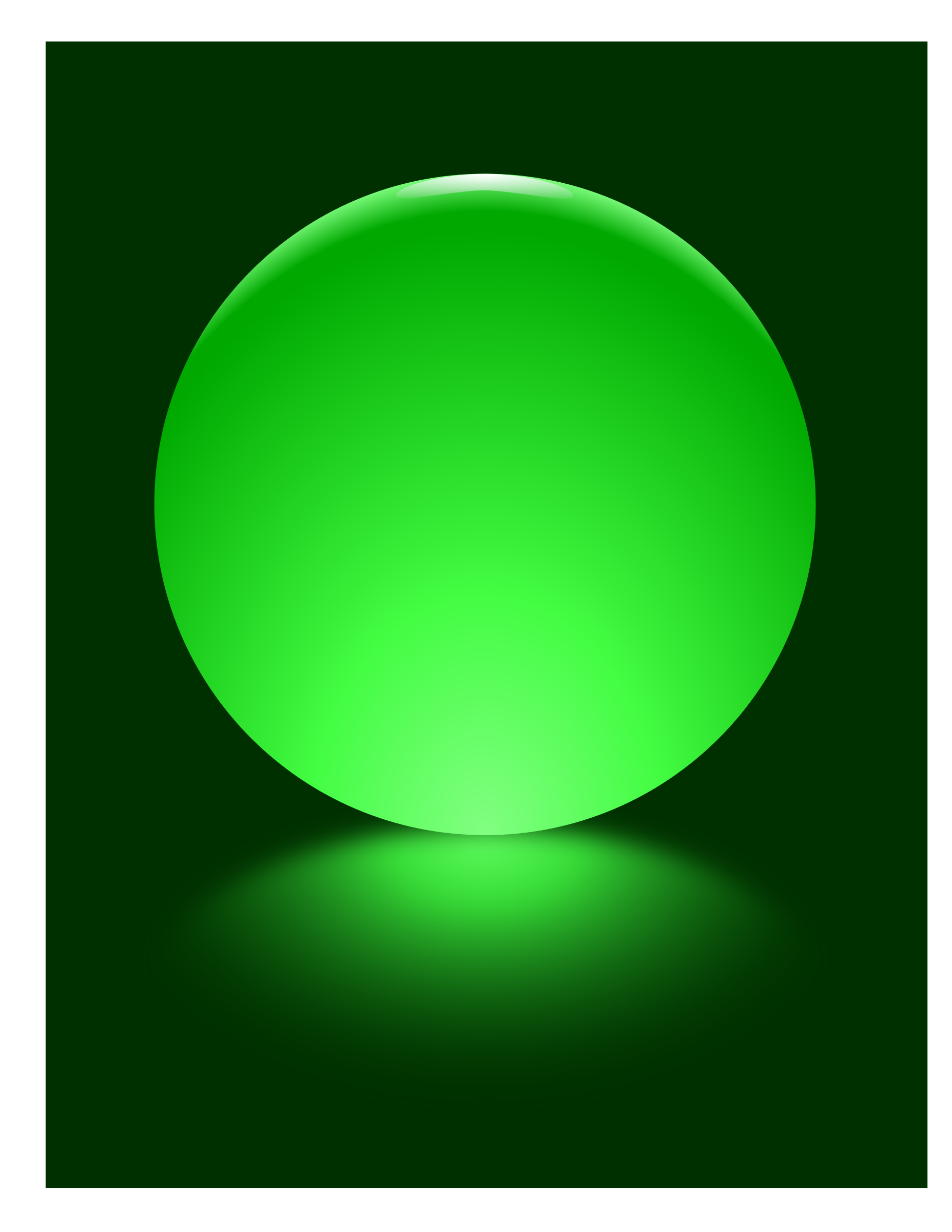Green Sphere Blurred Reflection by djpaul