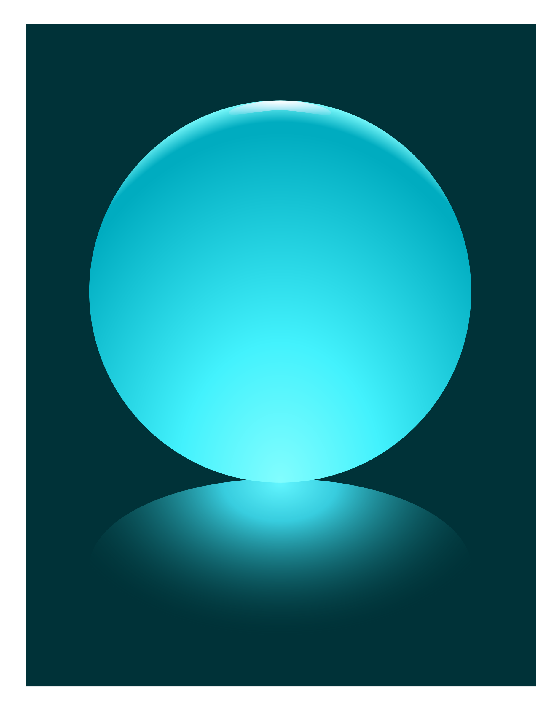 Cyan Sphere by djpaul