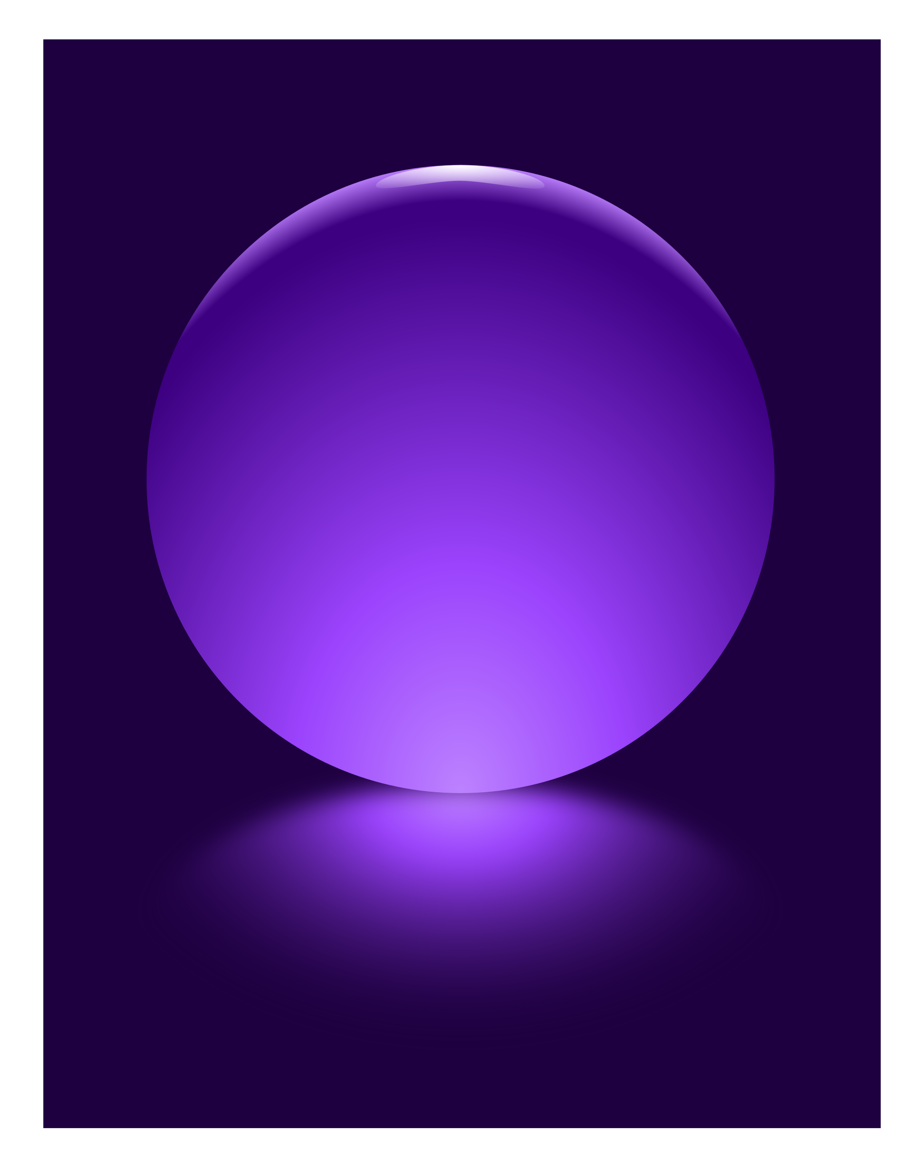 Purple Sphere Blurred Reflection by djpaul