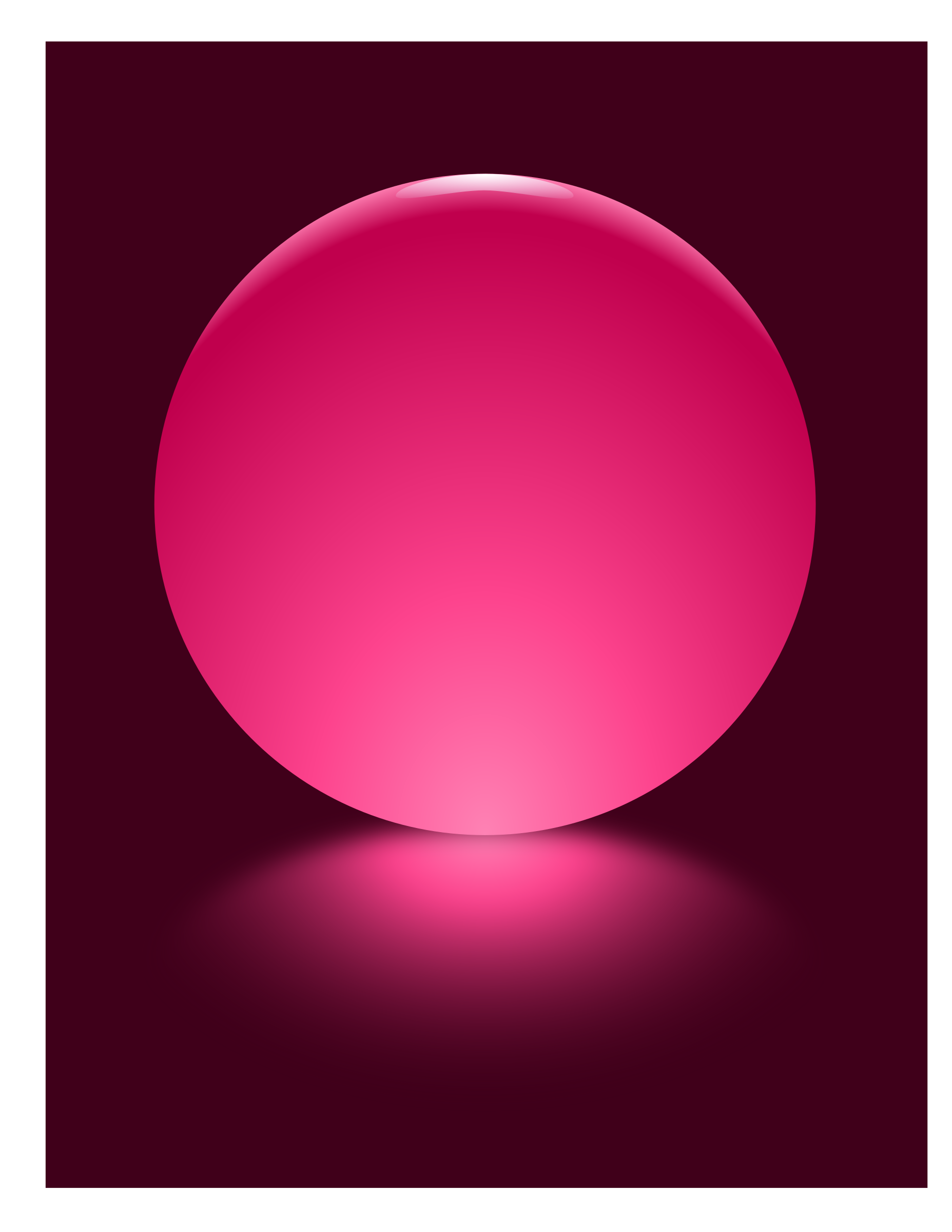 Pink Sphere Blurred Reflection by djpaul