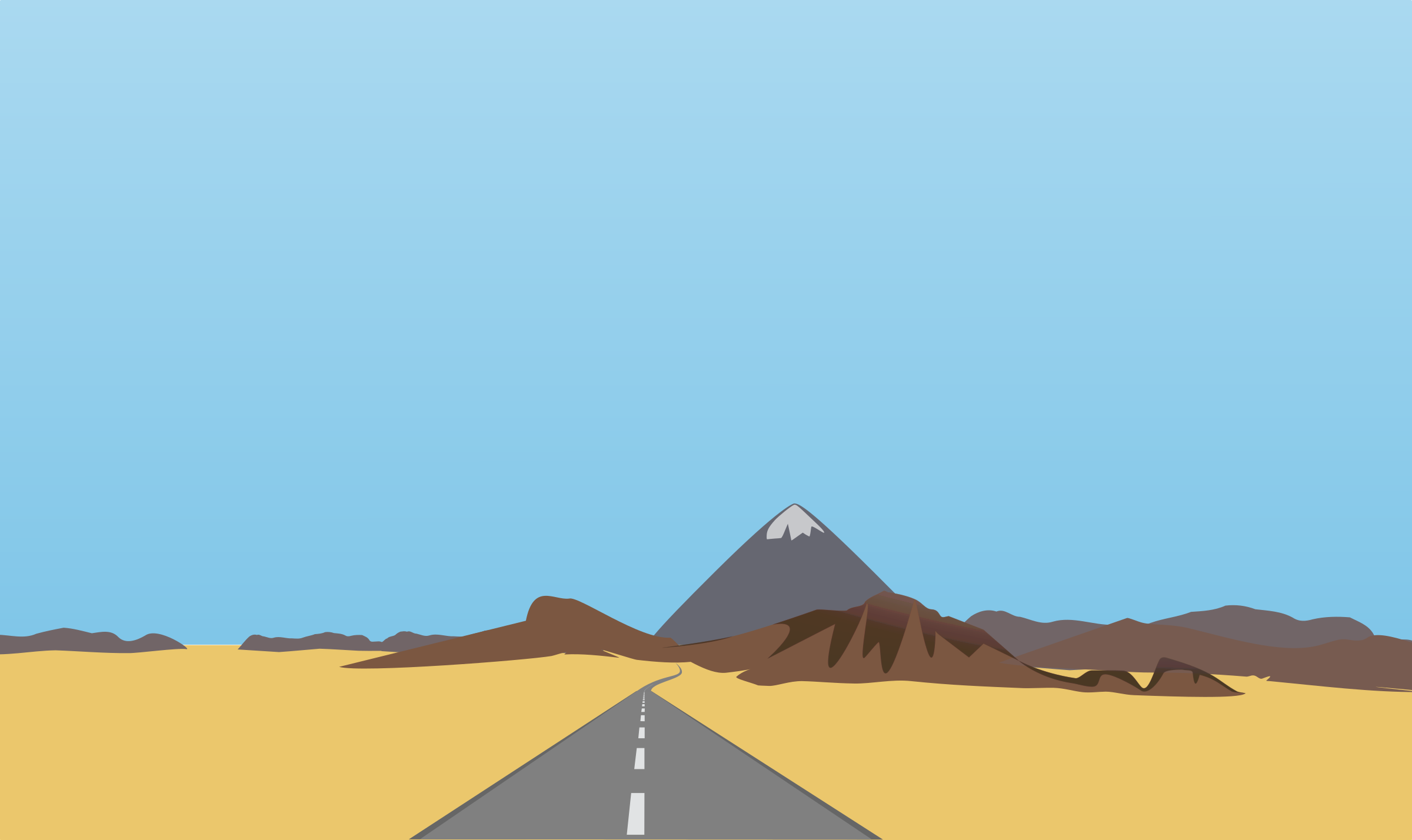 Long road in the desert by anarres