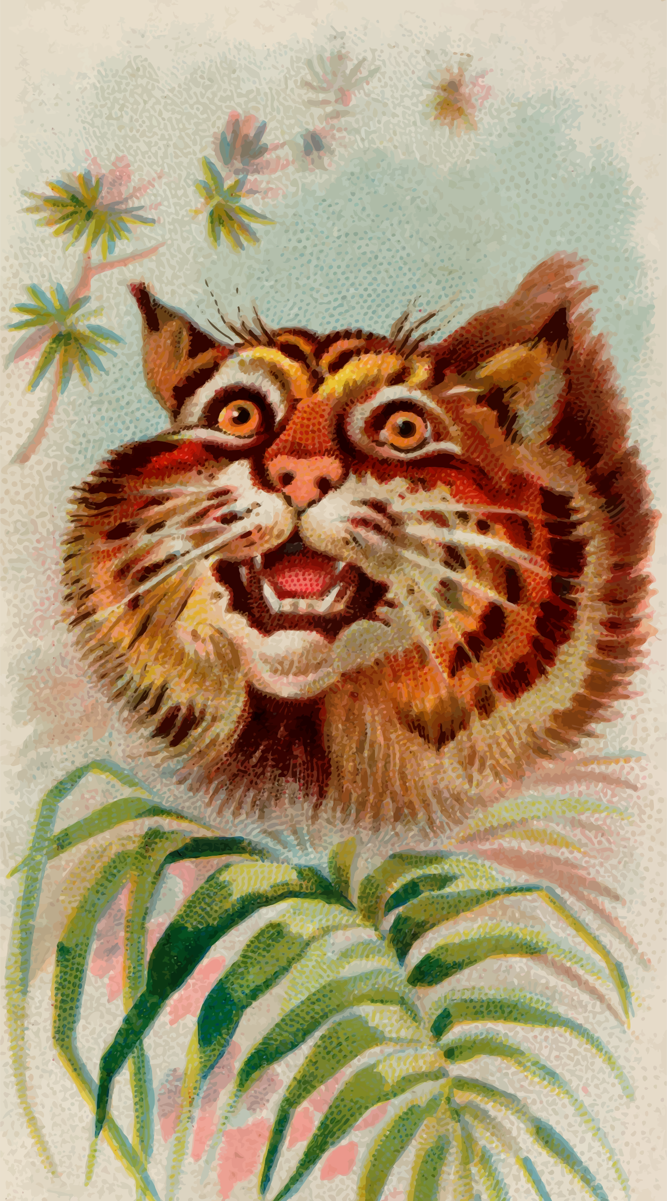 Cigarette card - American wildcat by Firkin