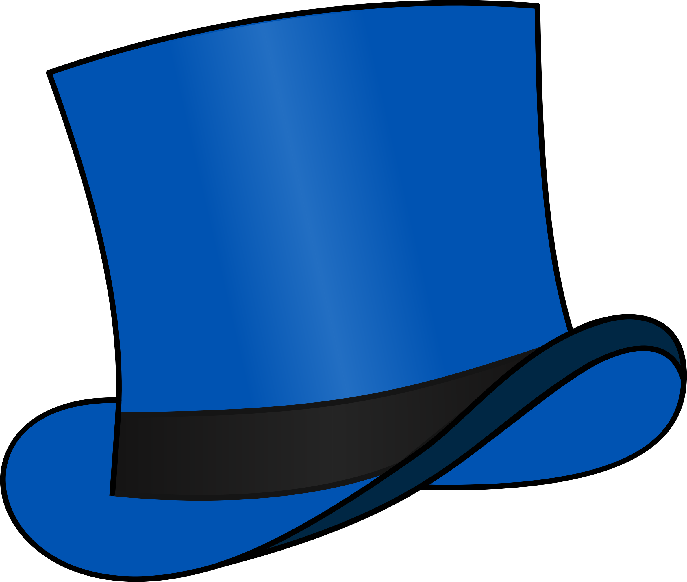 Top hat blue by cschreuders