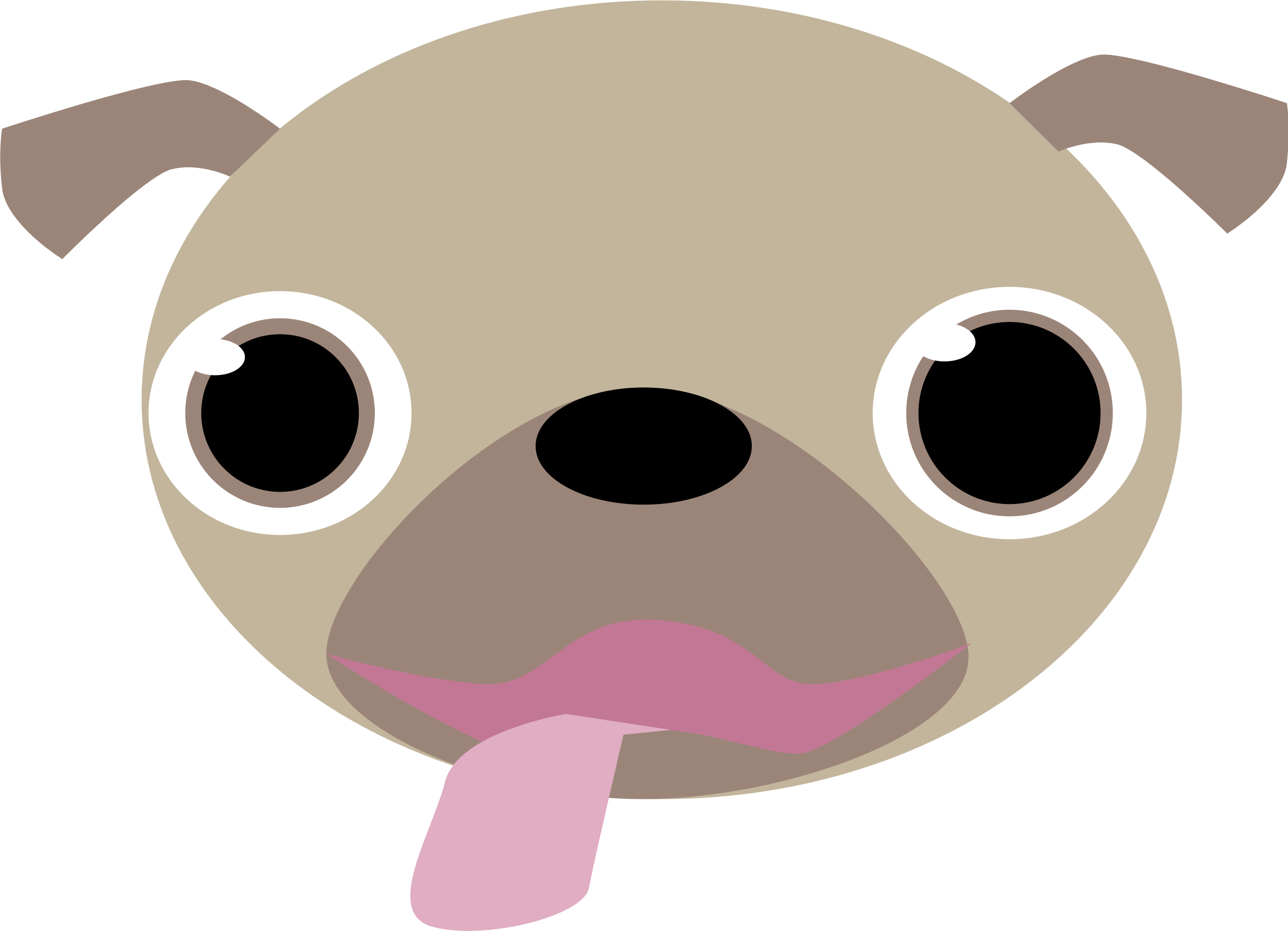 Pug Face by snoopingasusual