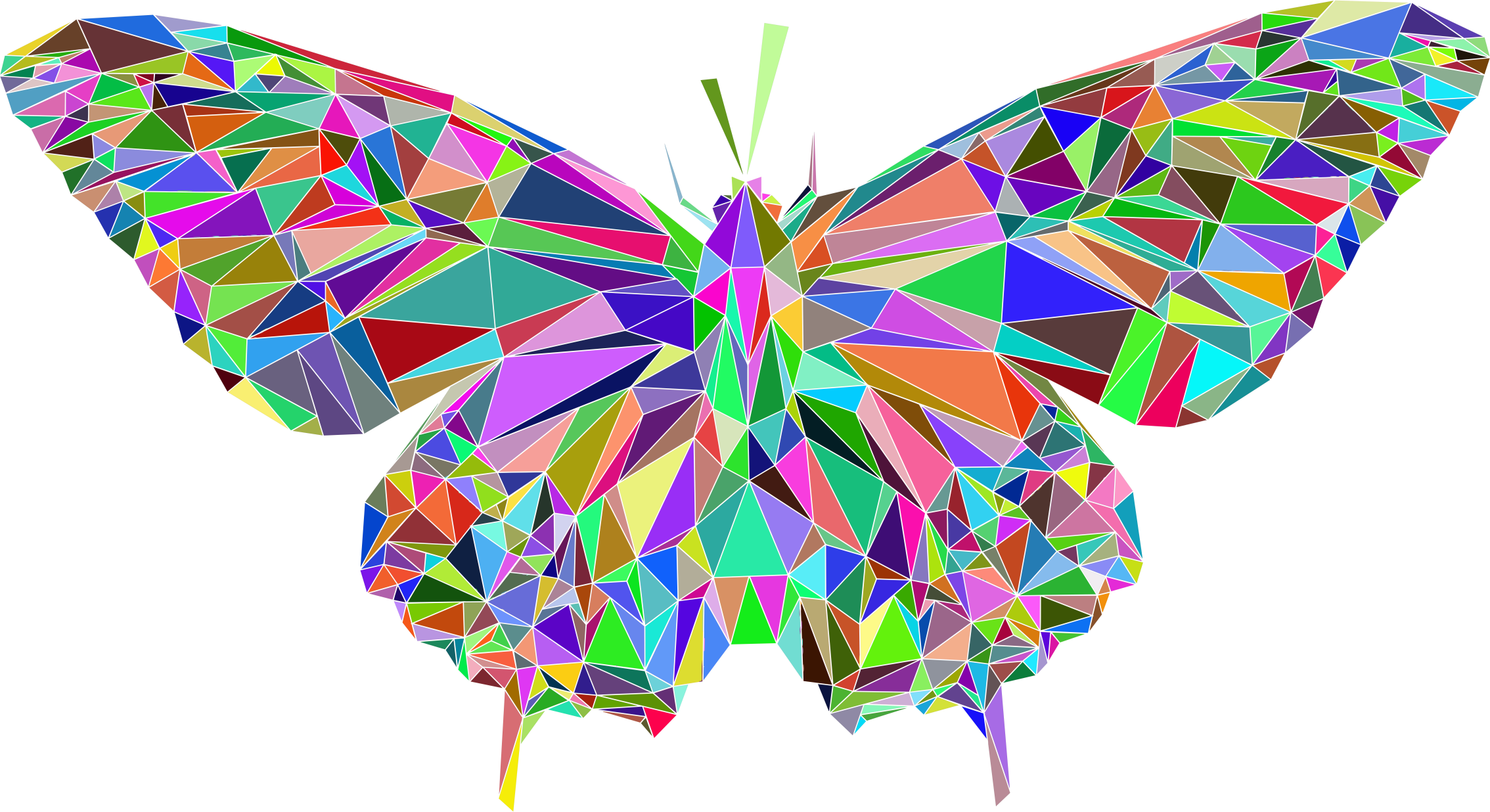Low Poly Butterfly Prismatic by GDJ