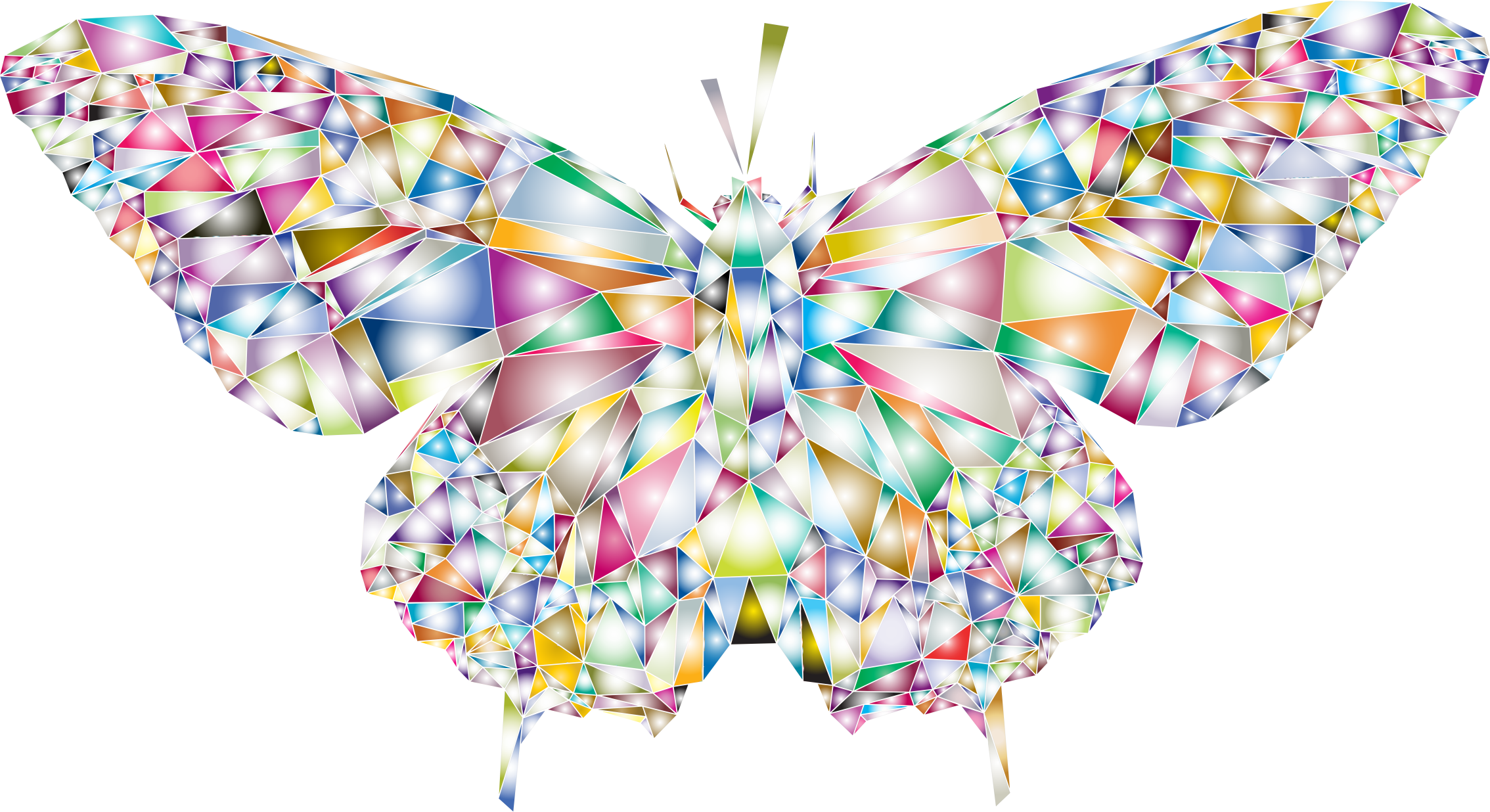 Low Poly Butterfly Prismatic 2 by GDJ