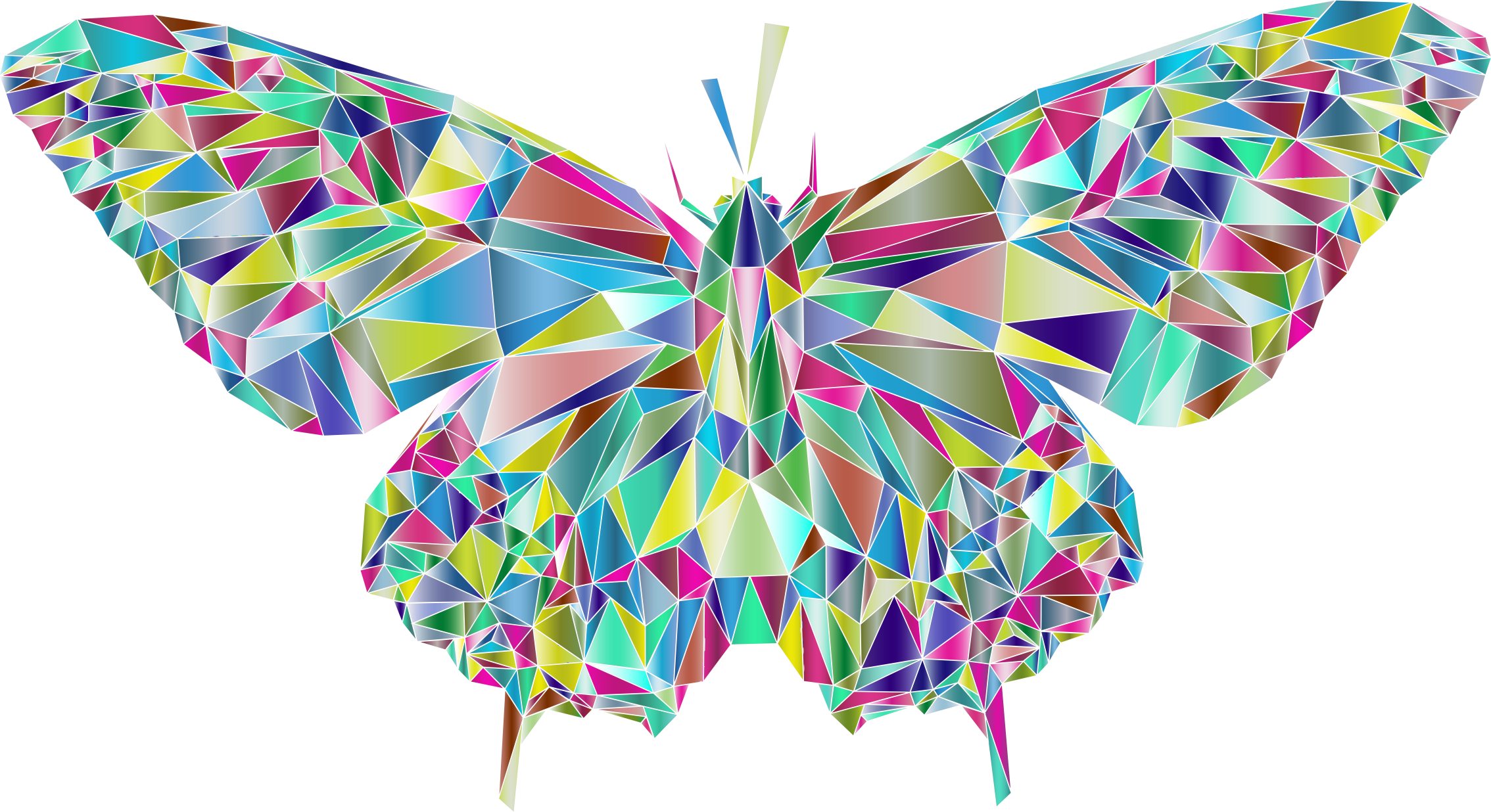 Low Poly Butterfly Prismatic 3 by GDJ