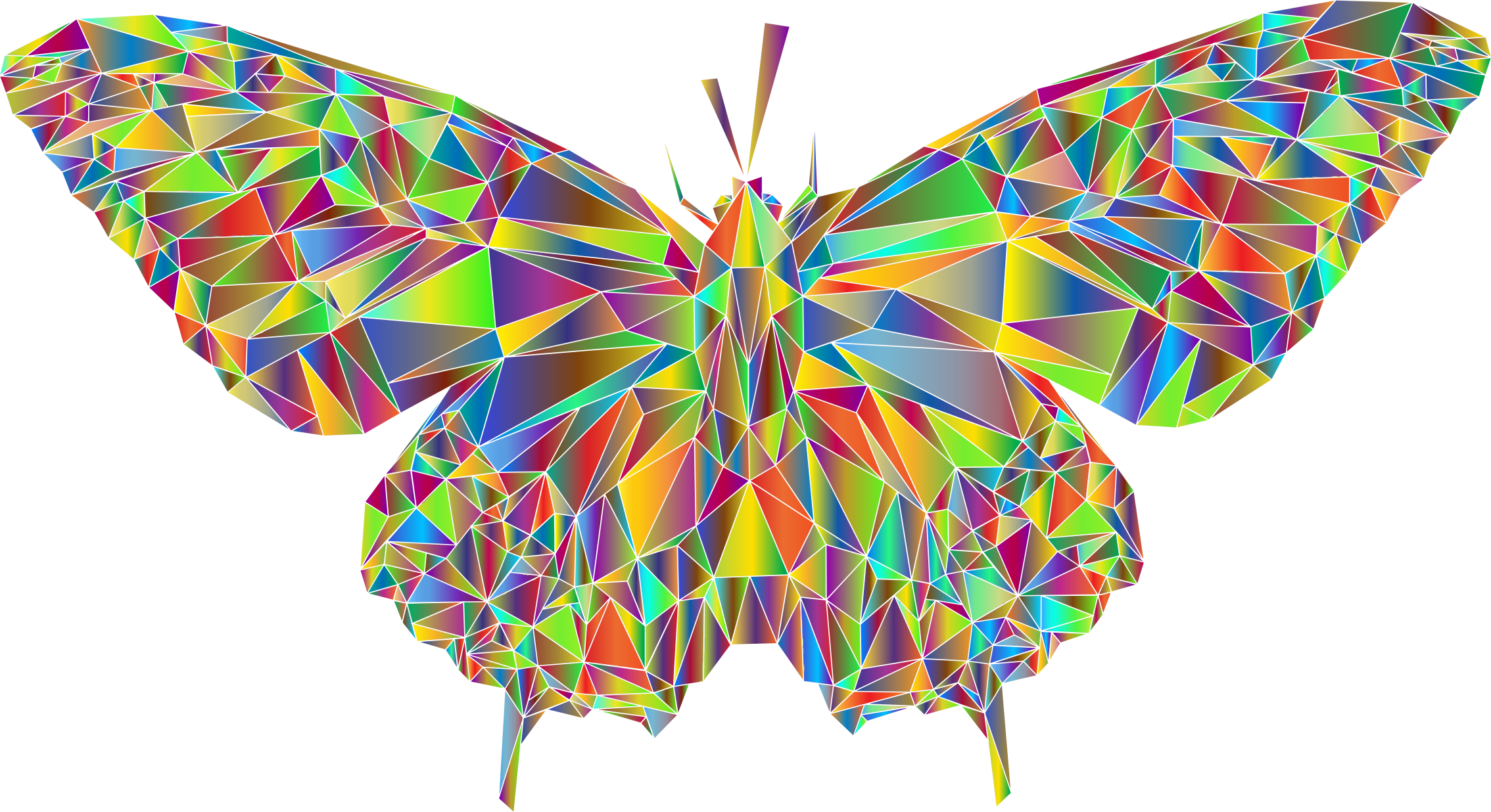 Low Poly Butterfly Prismatic 4 by GDJ