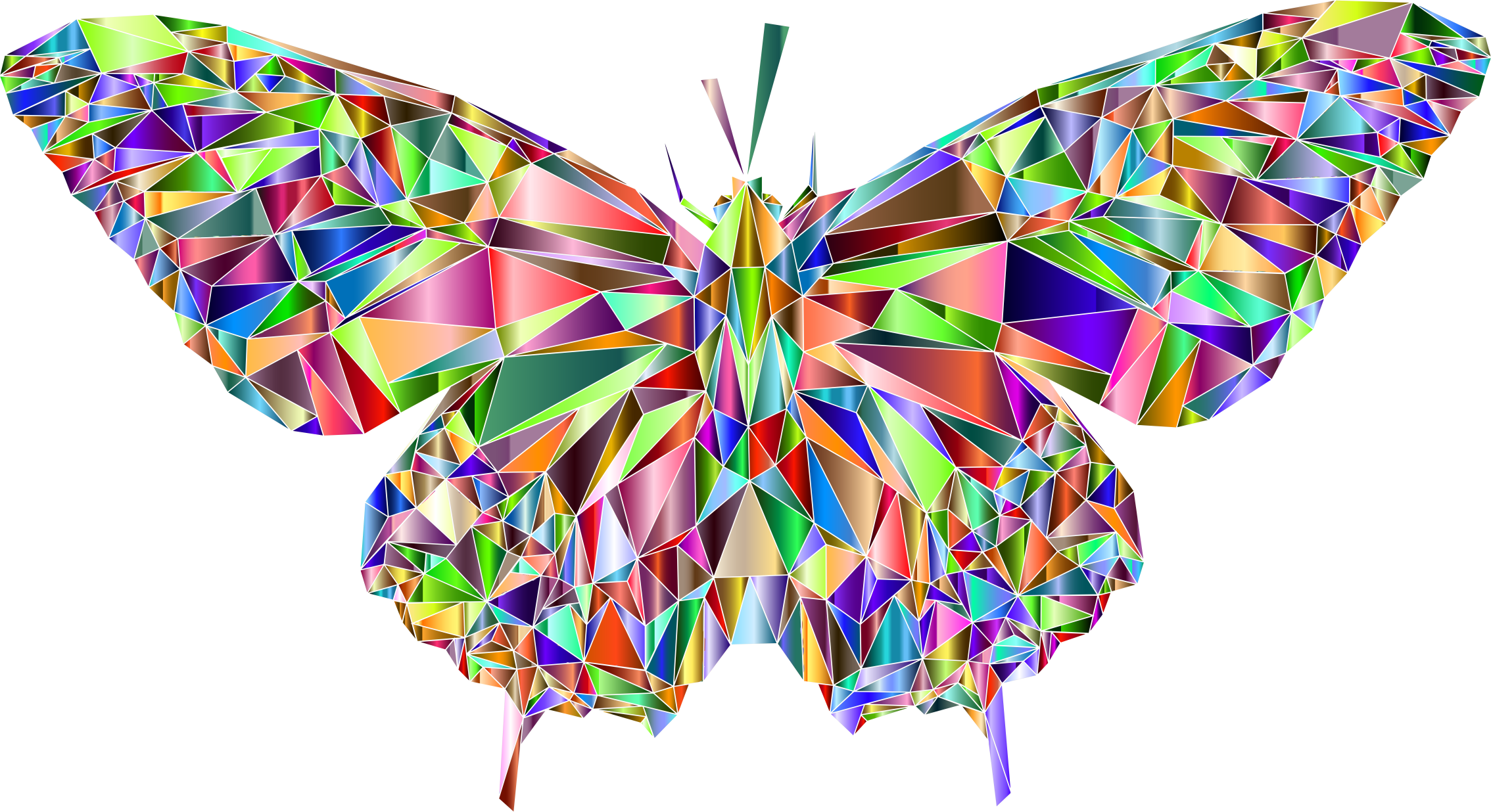 Low Poly Butterfly Prismatic 7 by GDJ