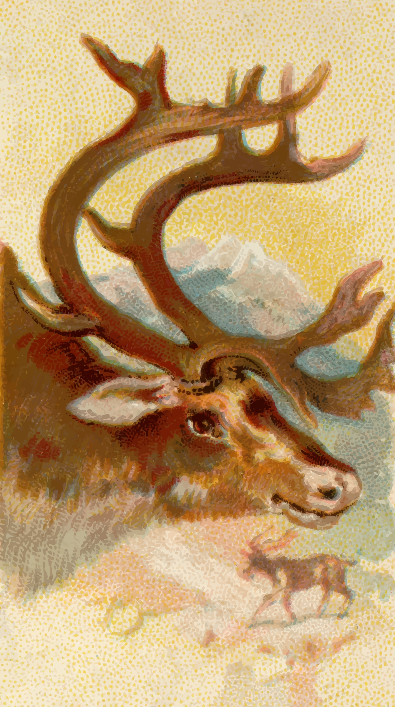 Cigarette card - Reindeer by Firkin