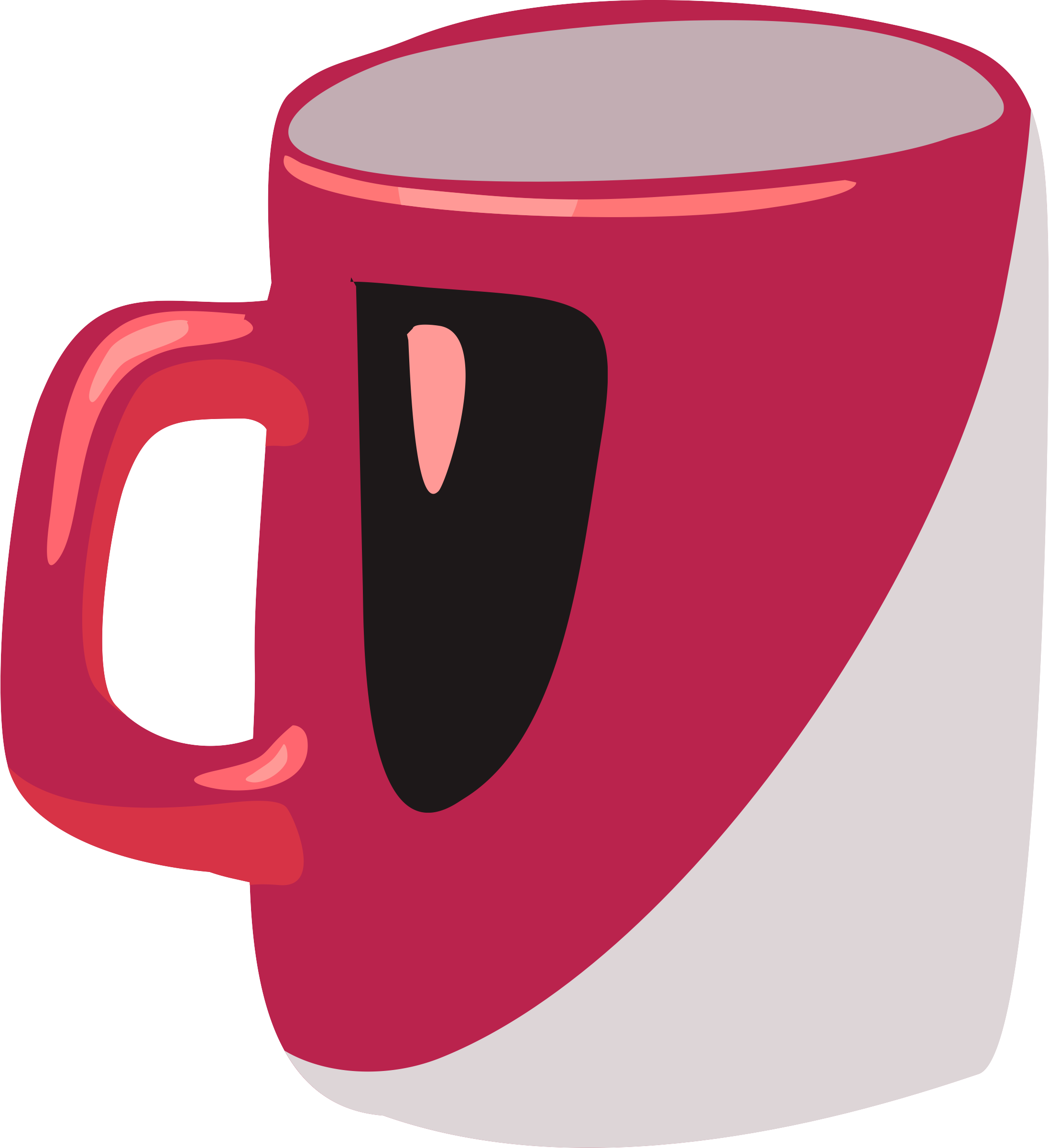 Red mug by Firkin