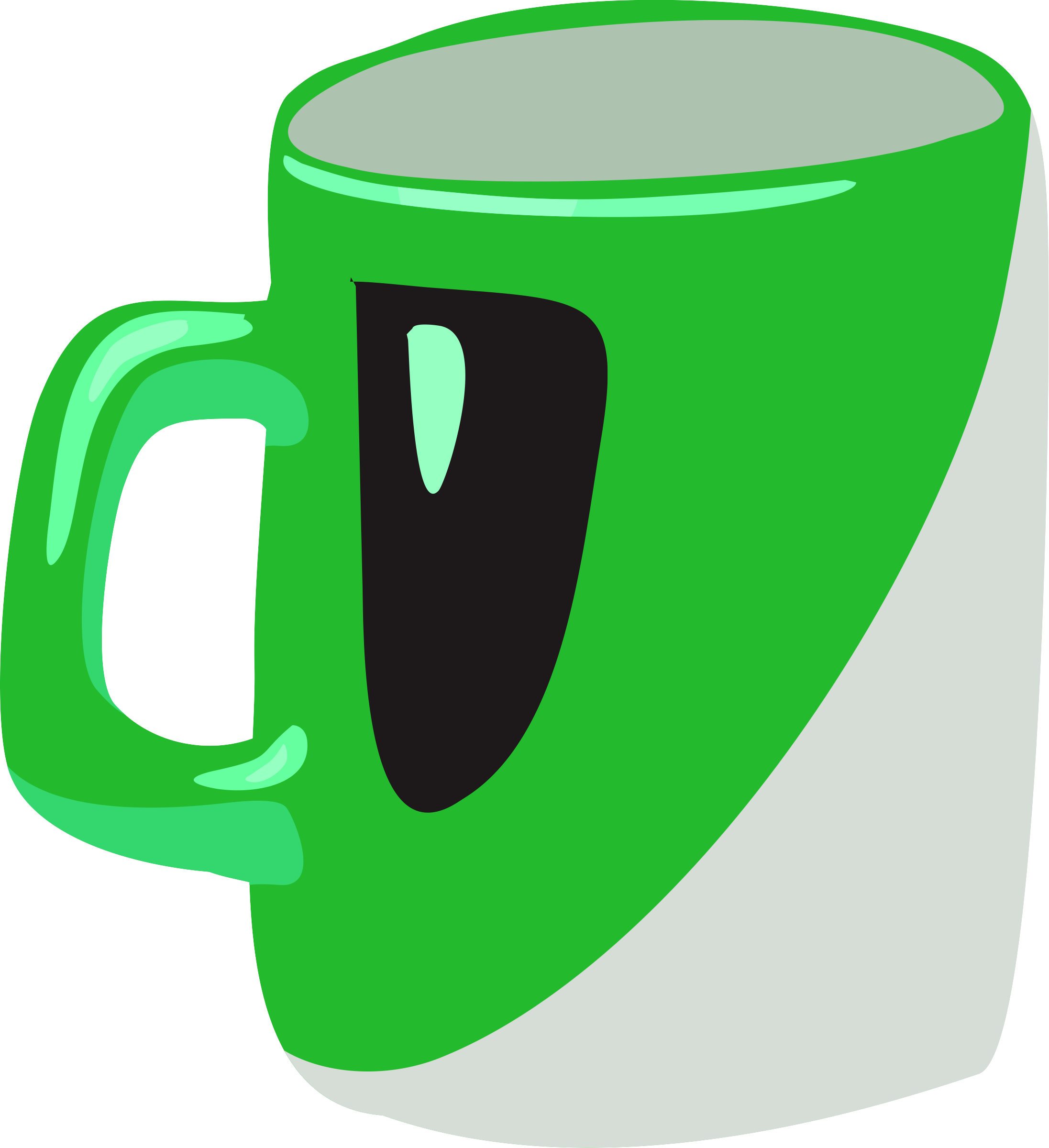 Green mug by Firkin