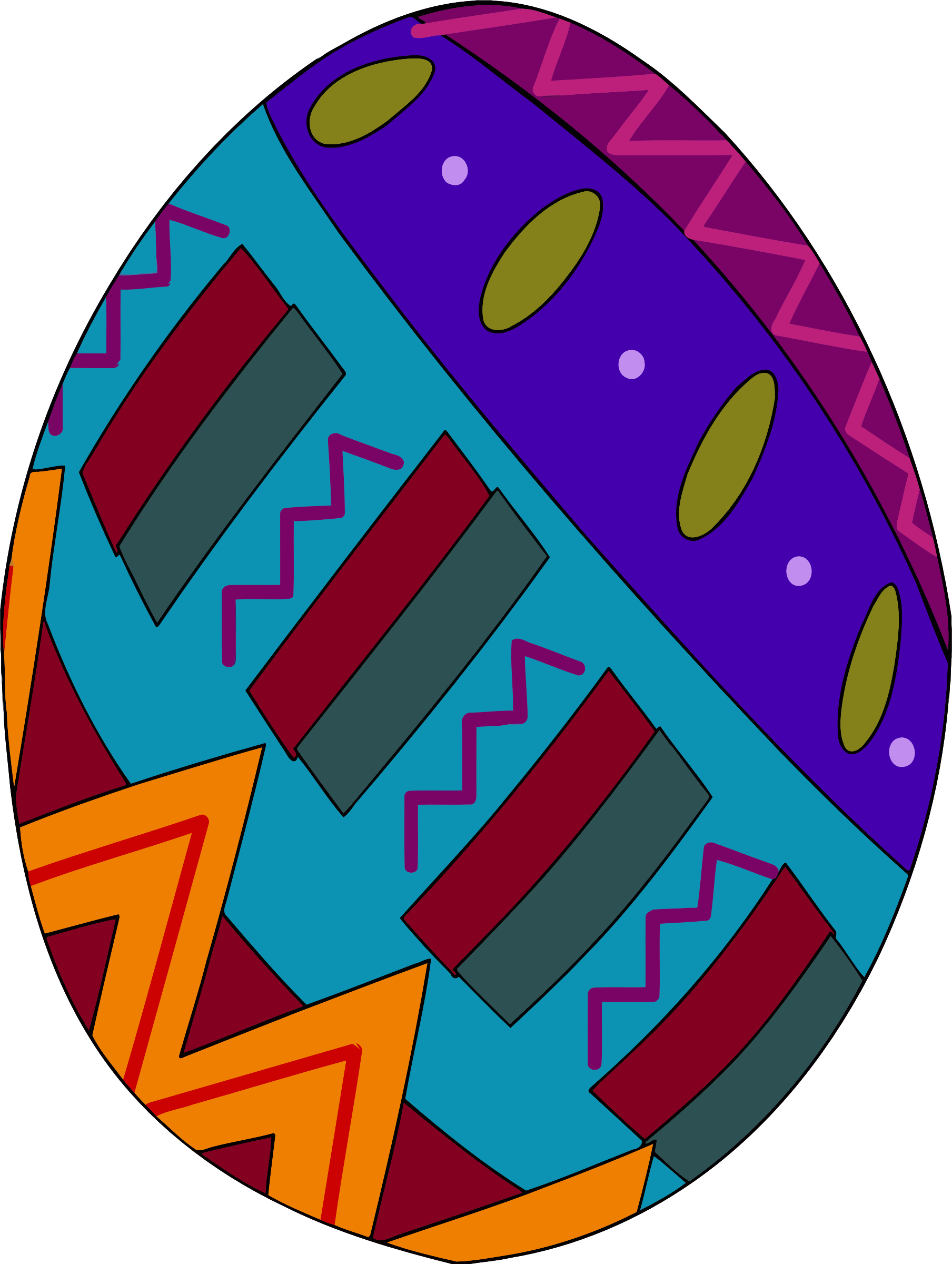Decorative egg 1 by Firkin