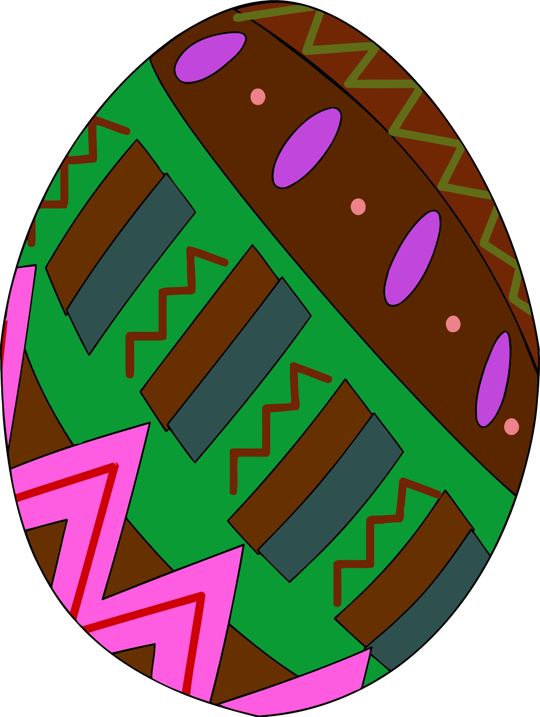 Decorative egg 7 by Firkin