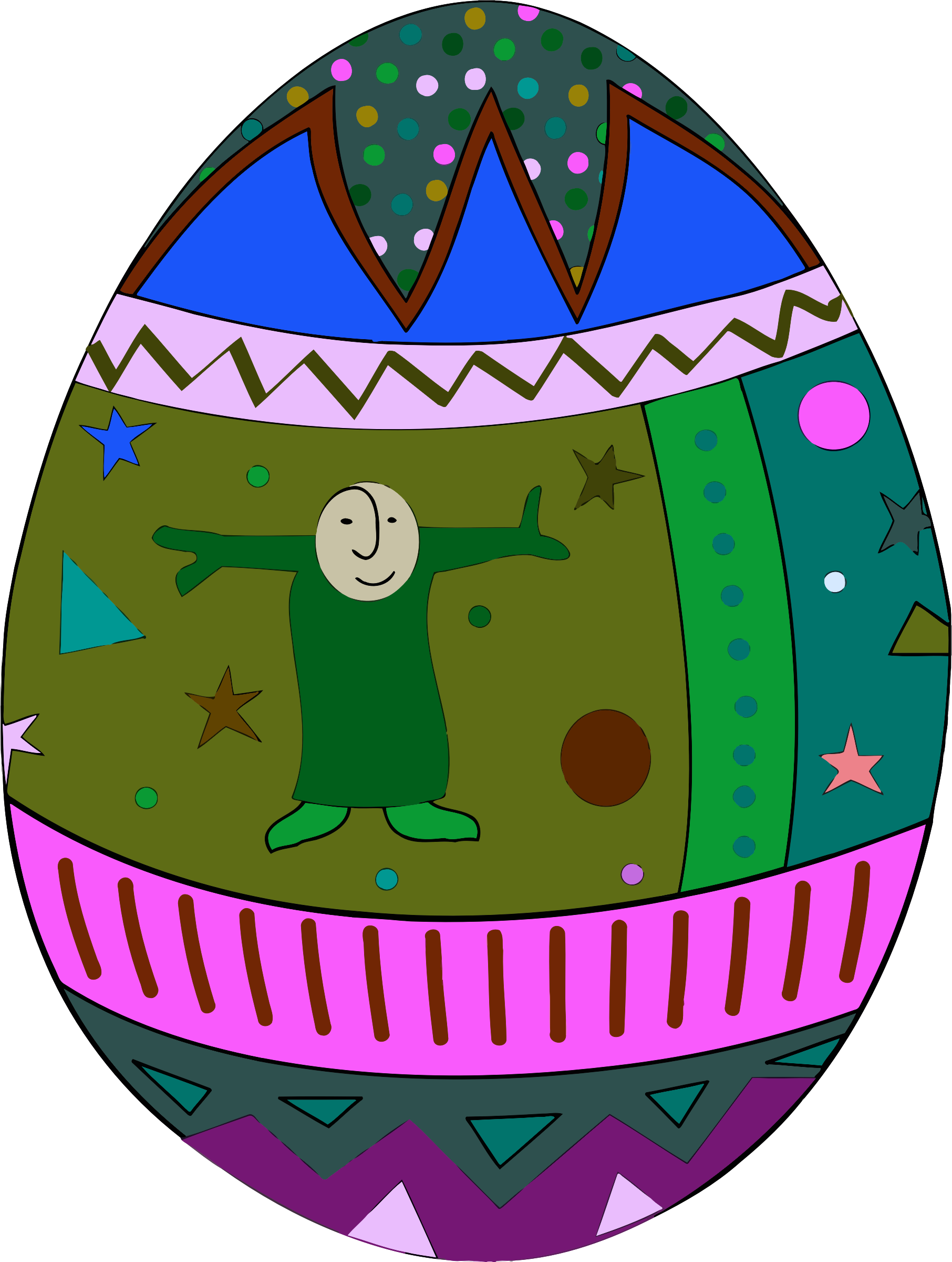 Decorative egg 9 by Firkin