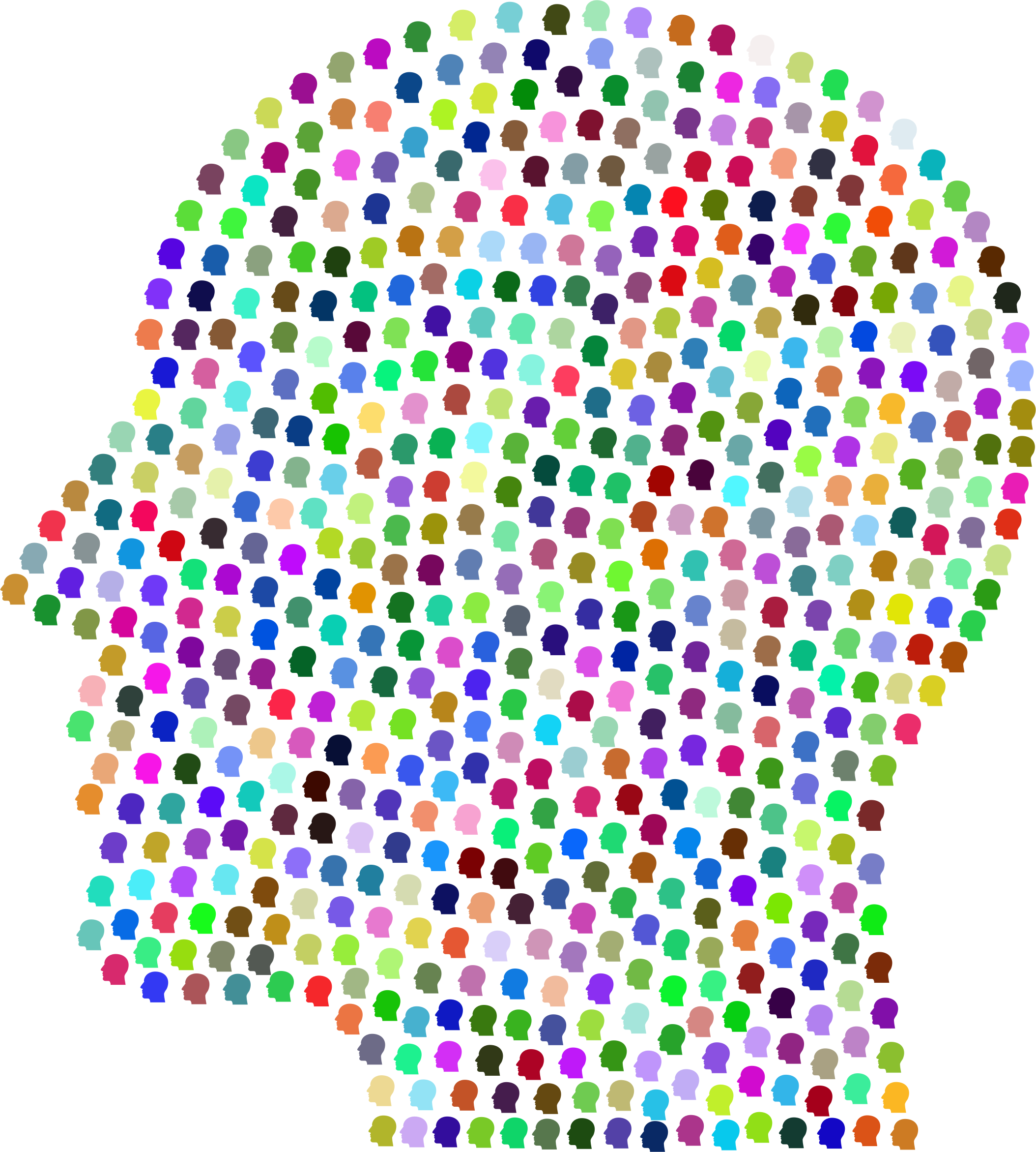 Man Head Silhouette Fractal Prismatic by GDJ