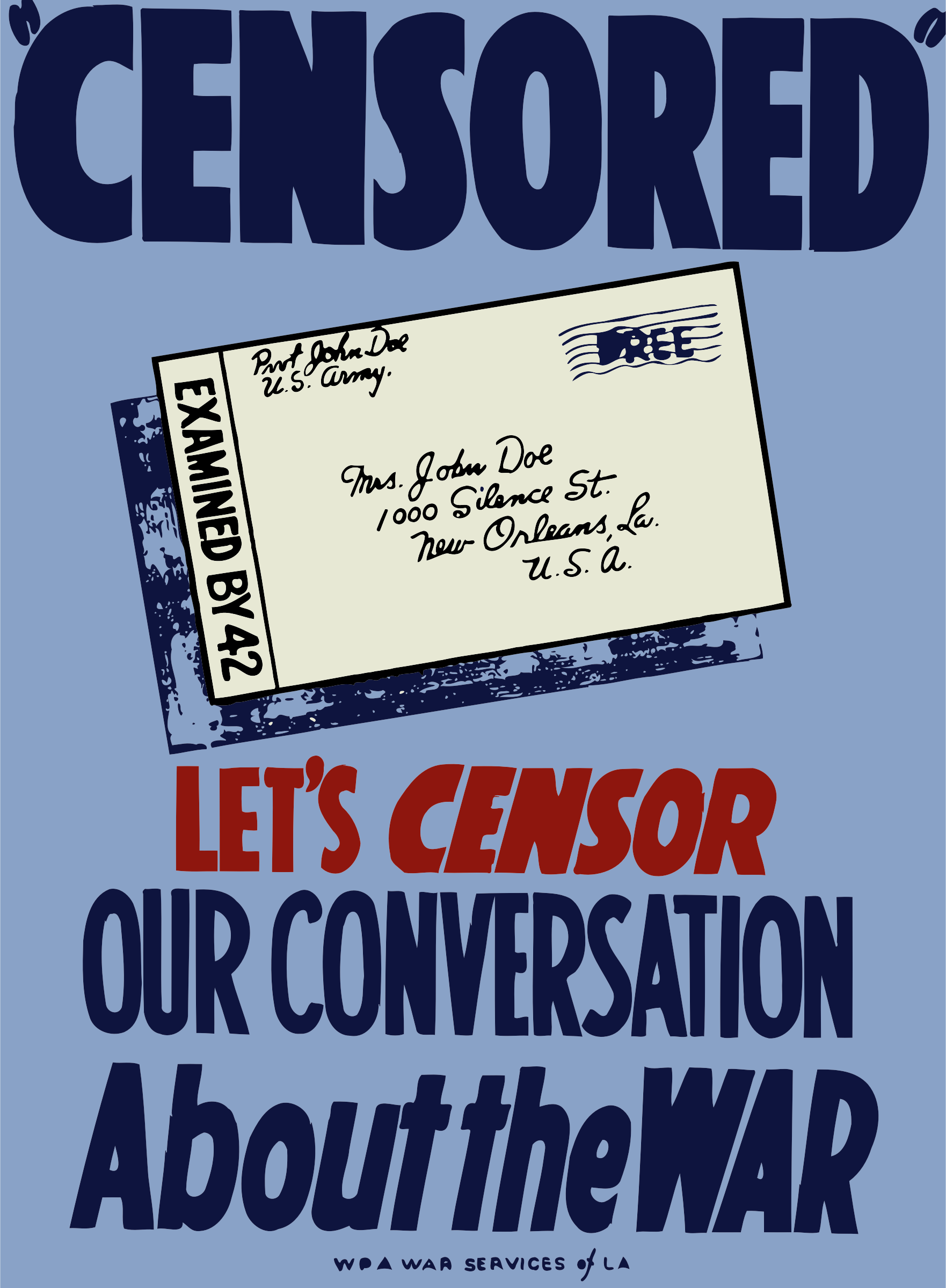 Censorship war poster by Firkin