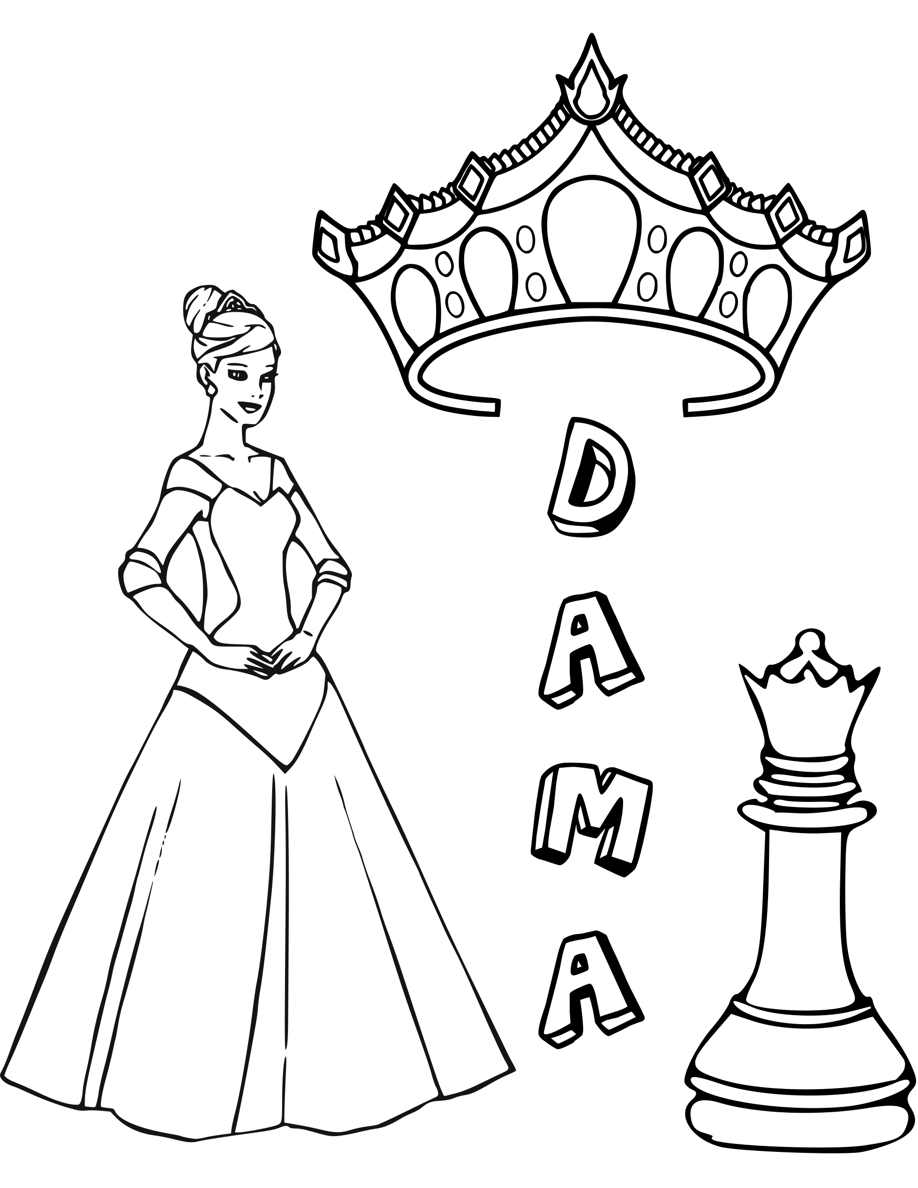 Chess coloring book  / Dibujo Ajedrez para colorear -5- by DG-RA