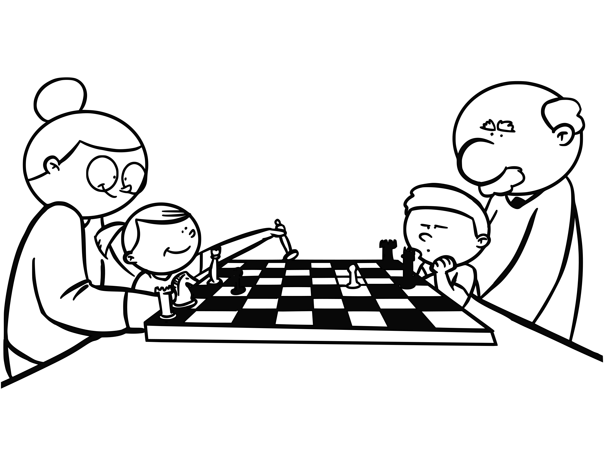 Chess coloring book  / Dibujo Ajedrez para colorear -11- by DG-RA