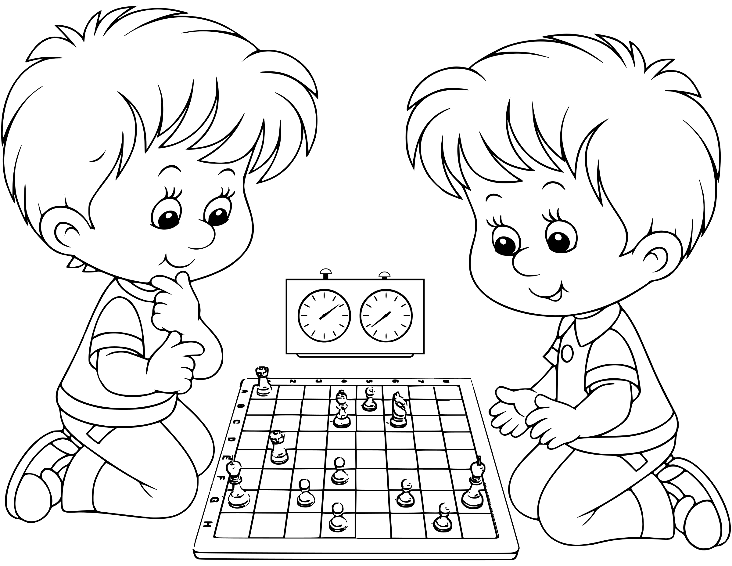 Chess coloring book  / Dibujo Ajedrez para colorear -18- by DG-RA