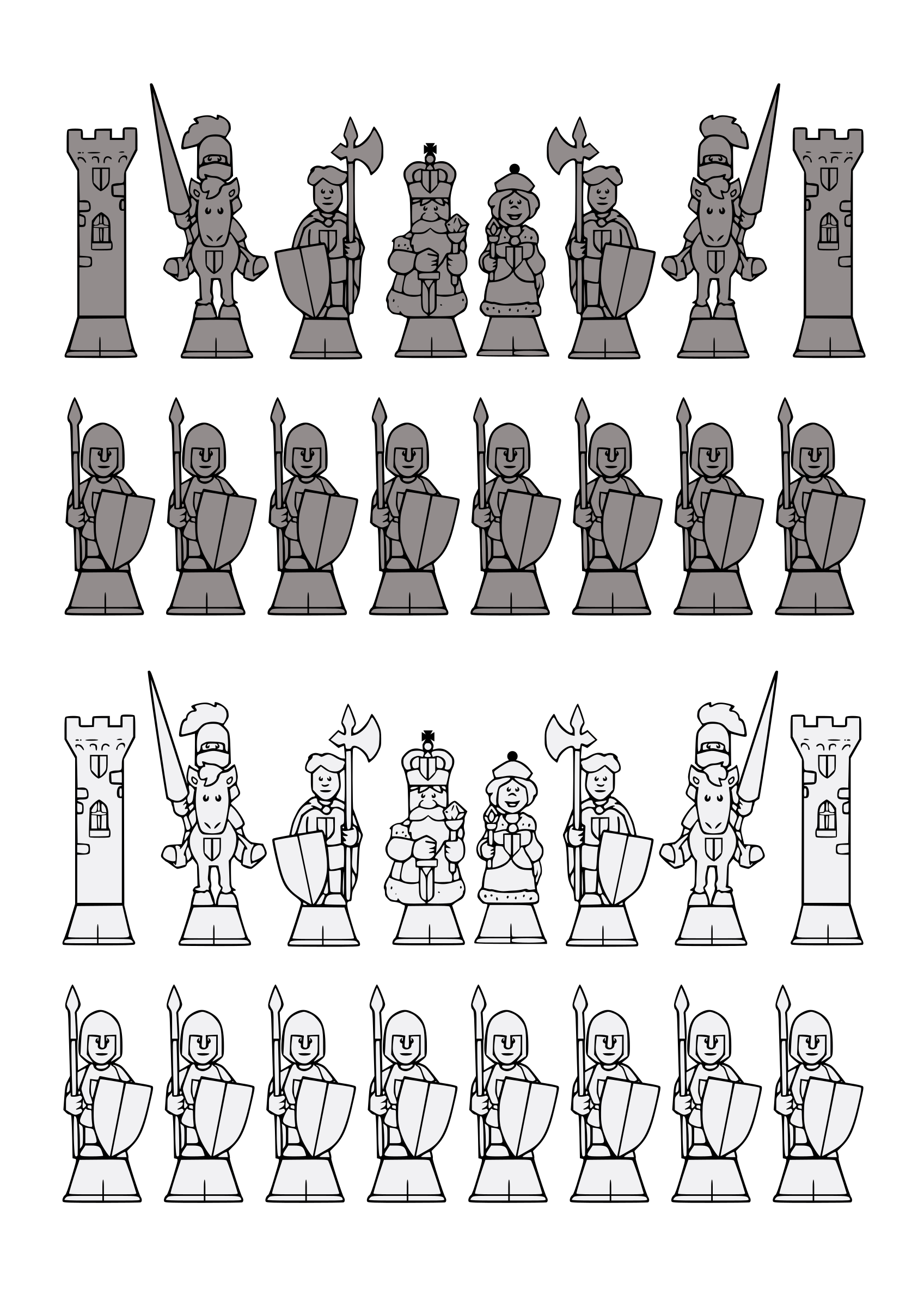 Print Out Chess Set by j4p4n