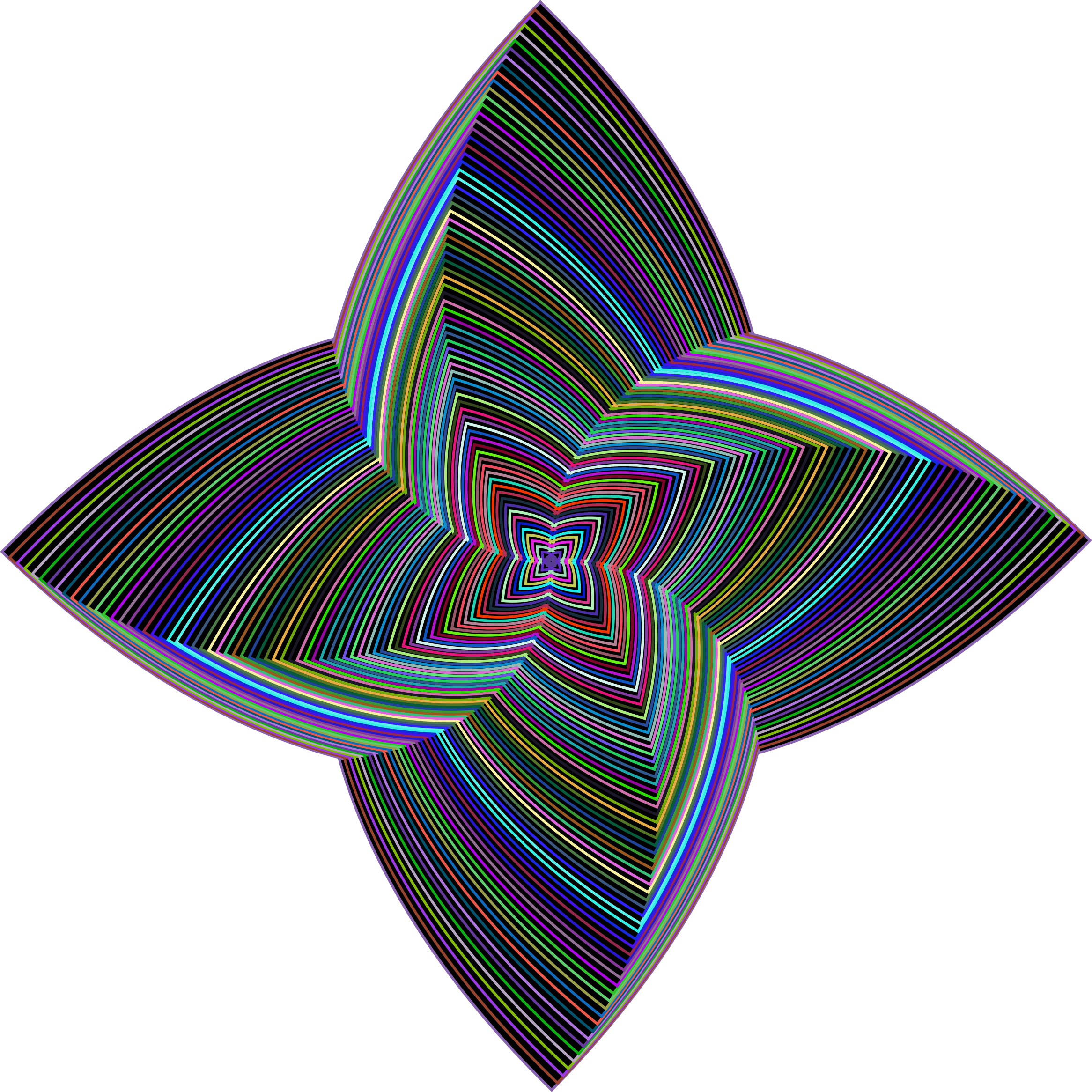 Prismatic Quadrilateral Line Art Variation 2 by GDJ