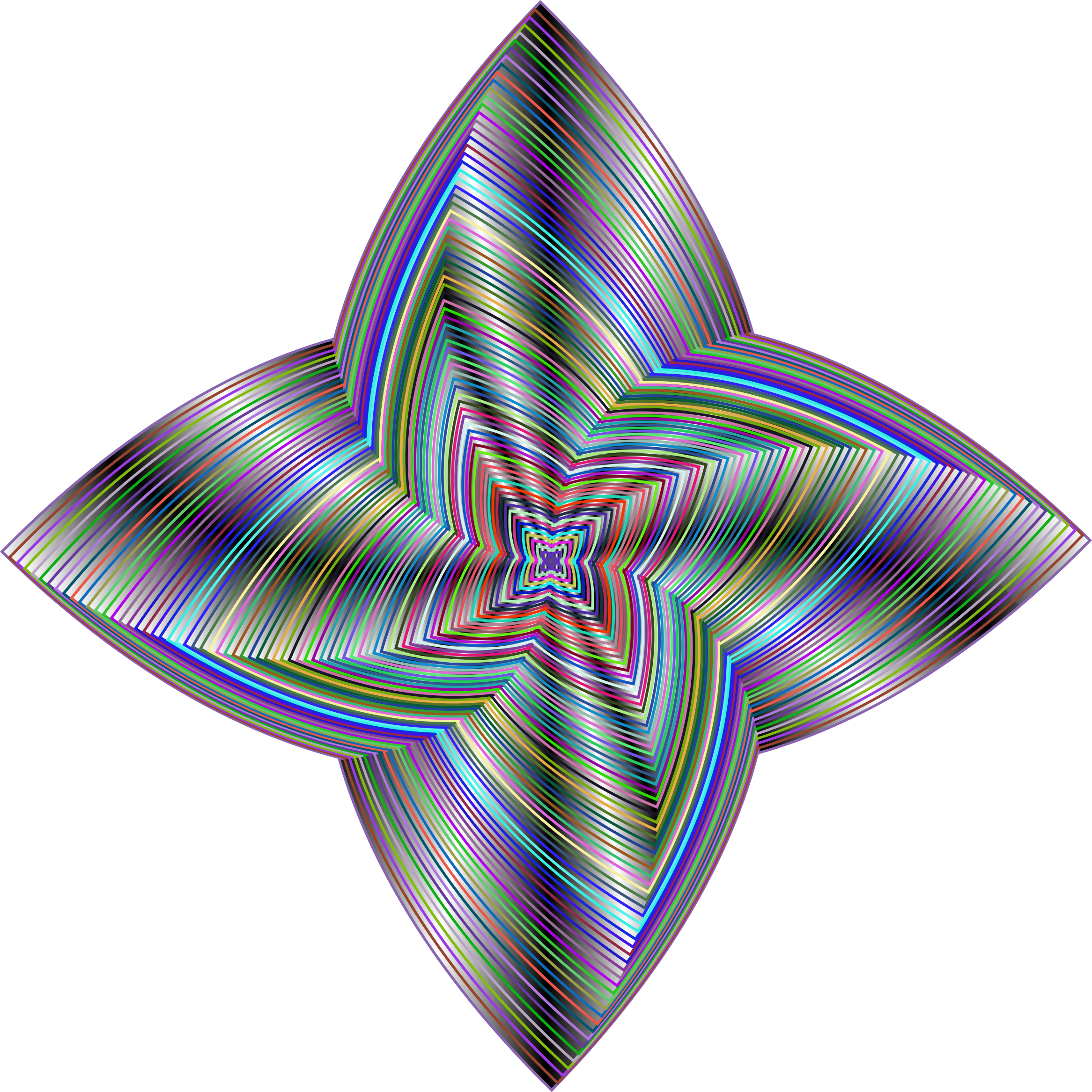 Prismatic Quadrilateral Line Art Variation 4 by GDJ