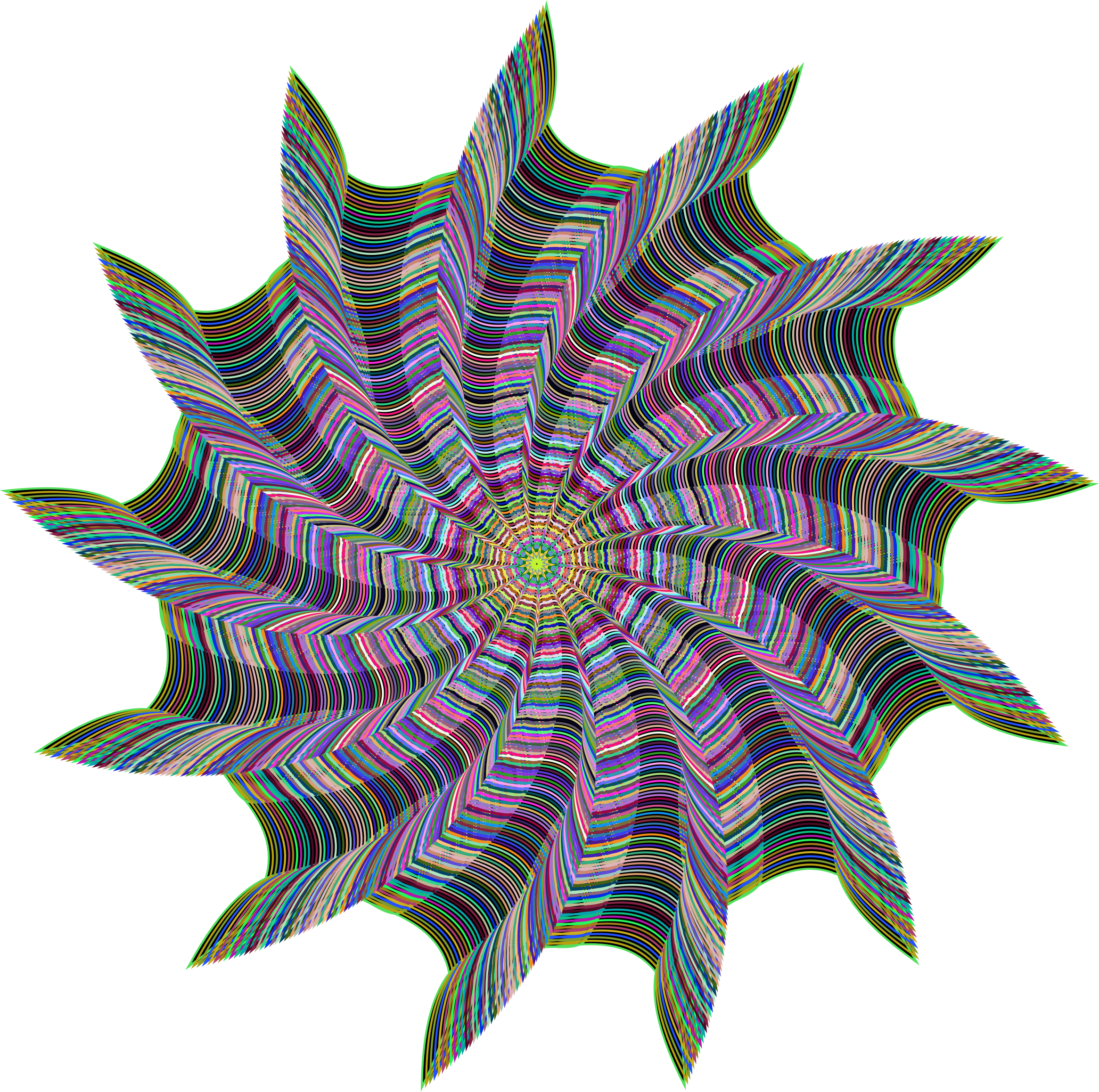 Prismatic Vortex Line Art by GDJ