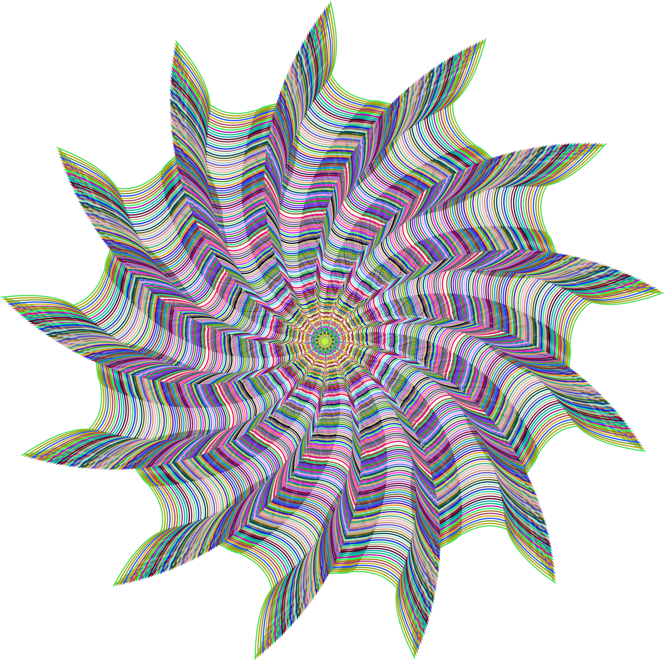 Prismatic Vortex Line Art No Background by GDJ
