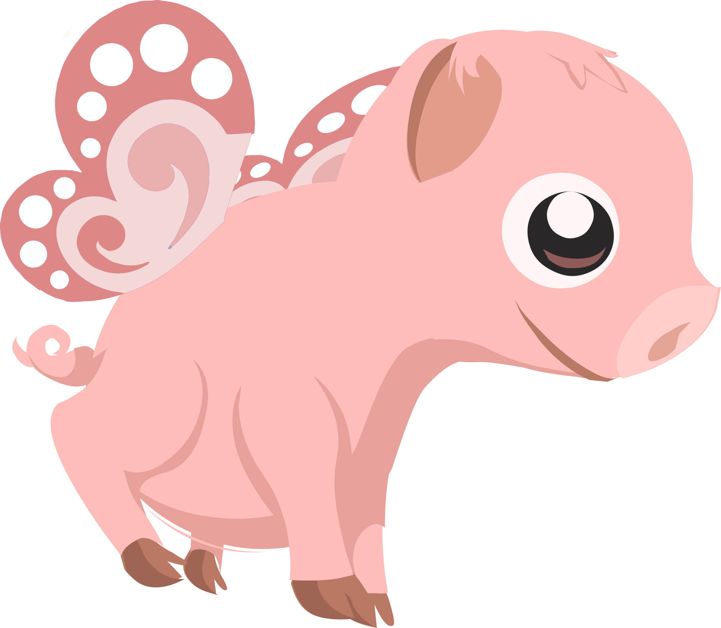 Flying piglet by anarres