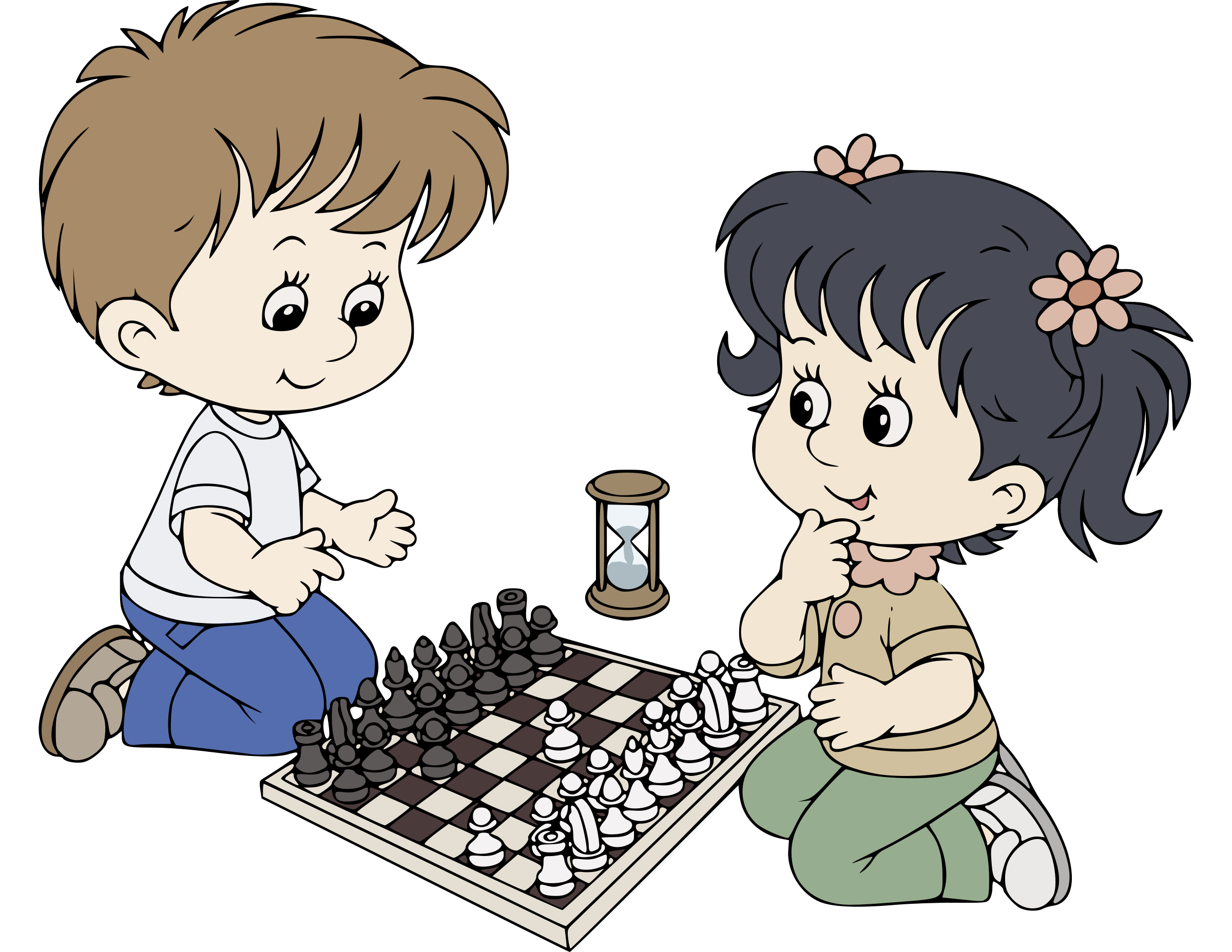Kids Playing Chess by j4p4n
