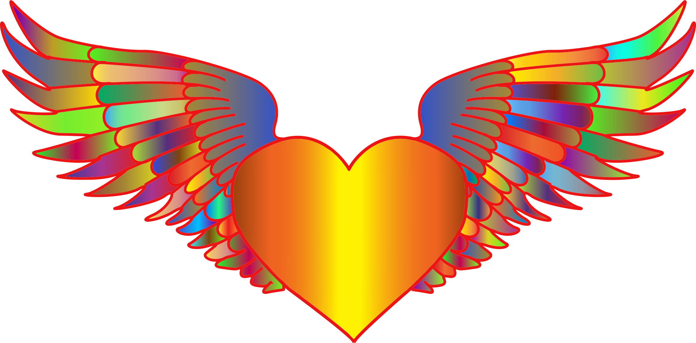Prismatic Flying Heart by GDJ