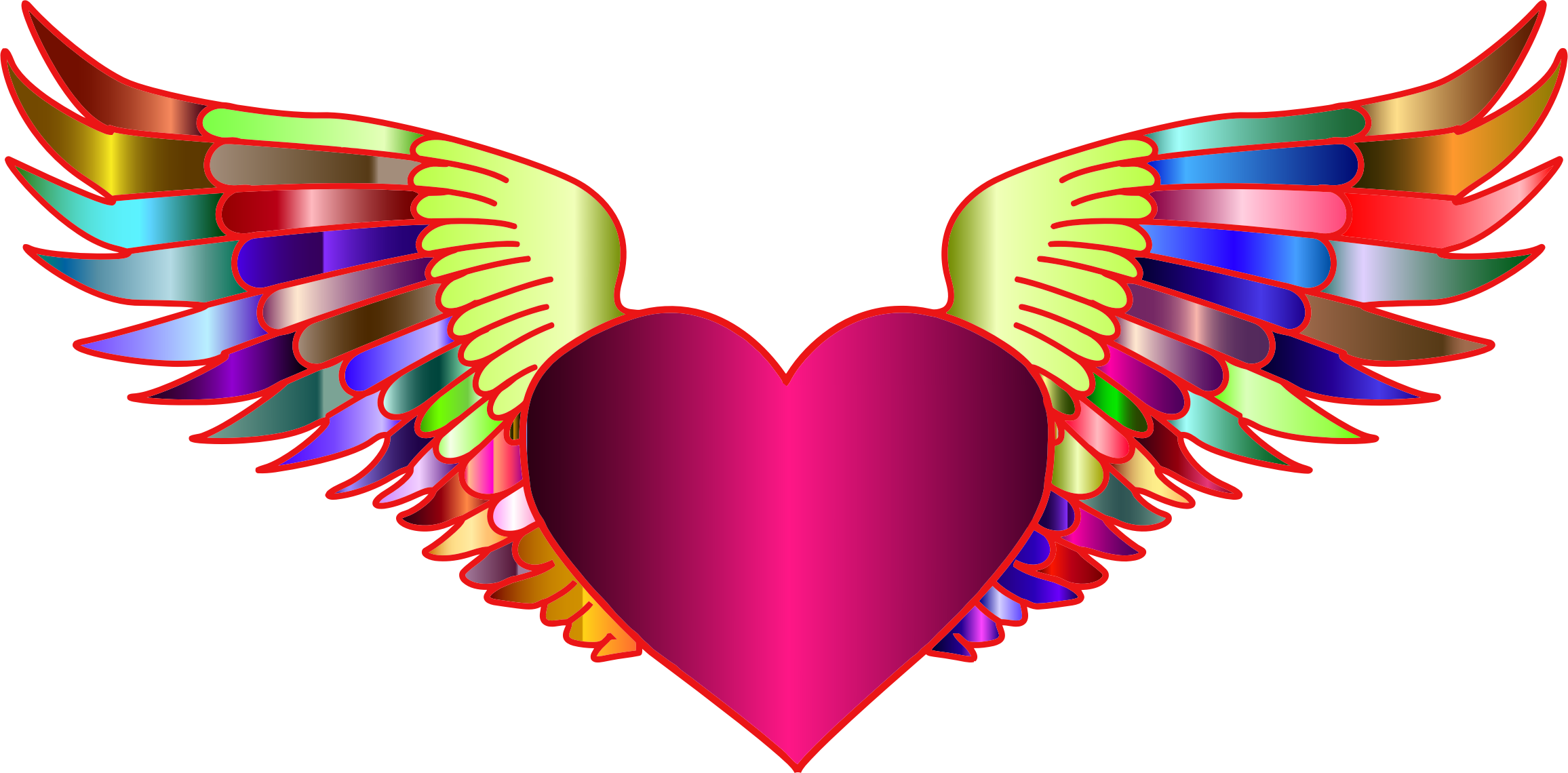 Prismatic Flying Heart 2 by GDJ