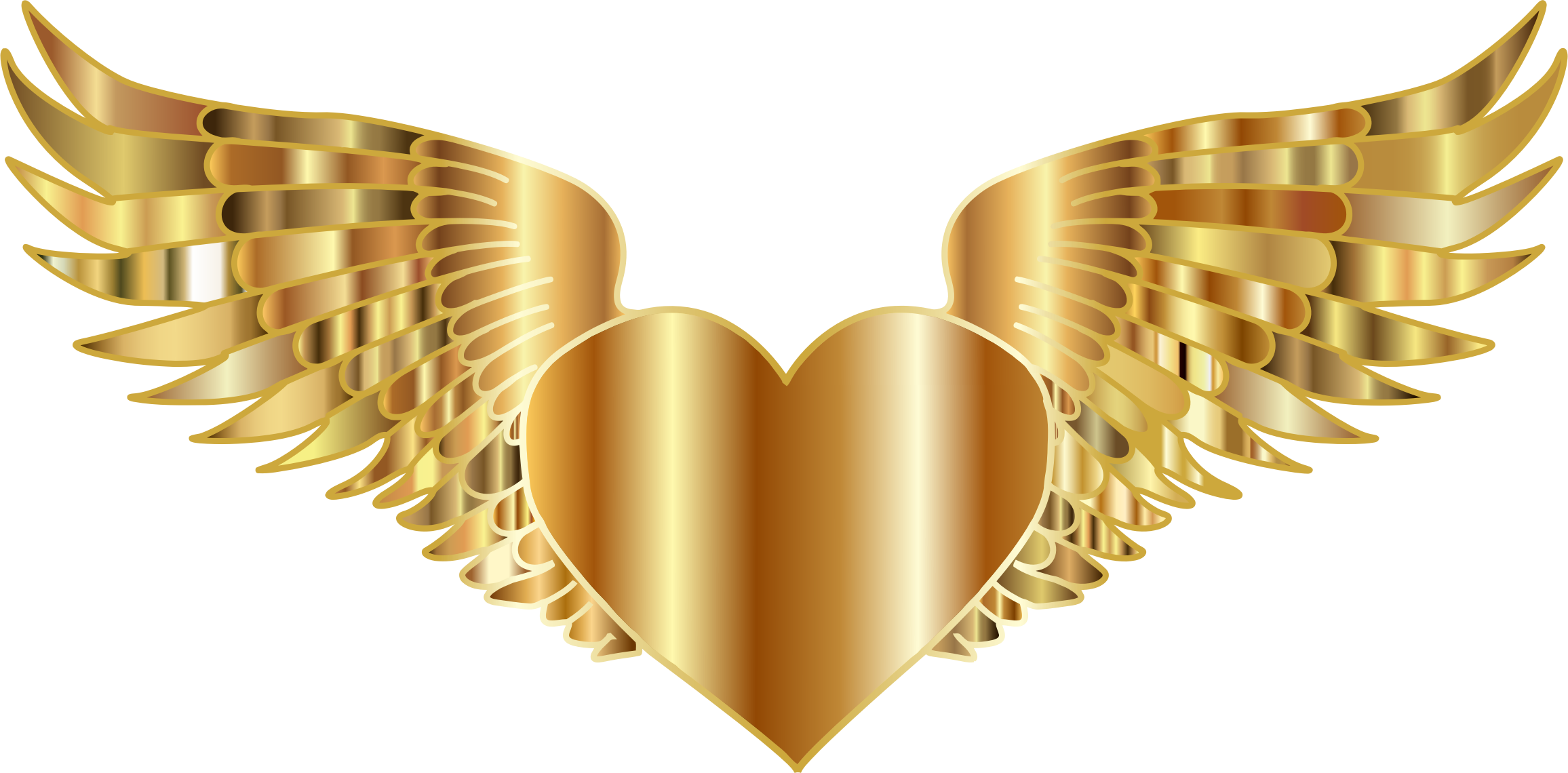Golden Flying Heart by GDJ