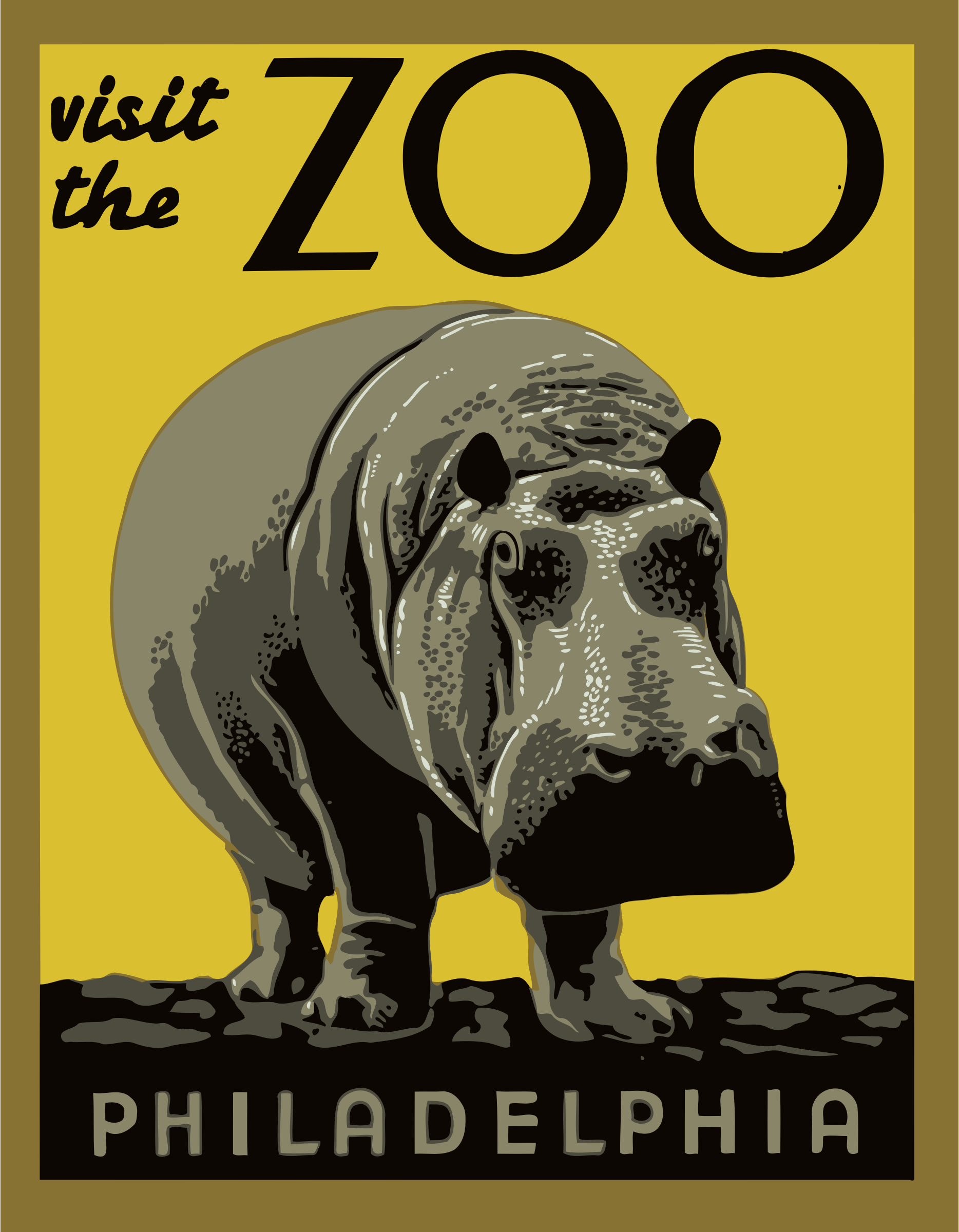 Visit the zoo poster 2 by Firkin