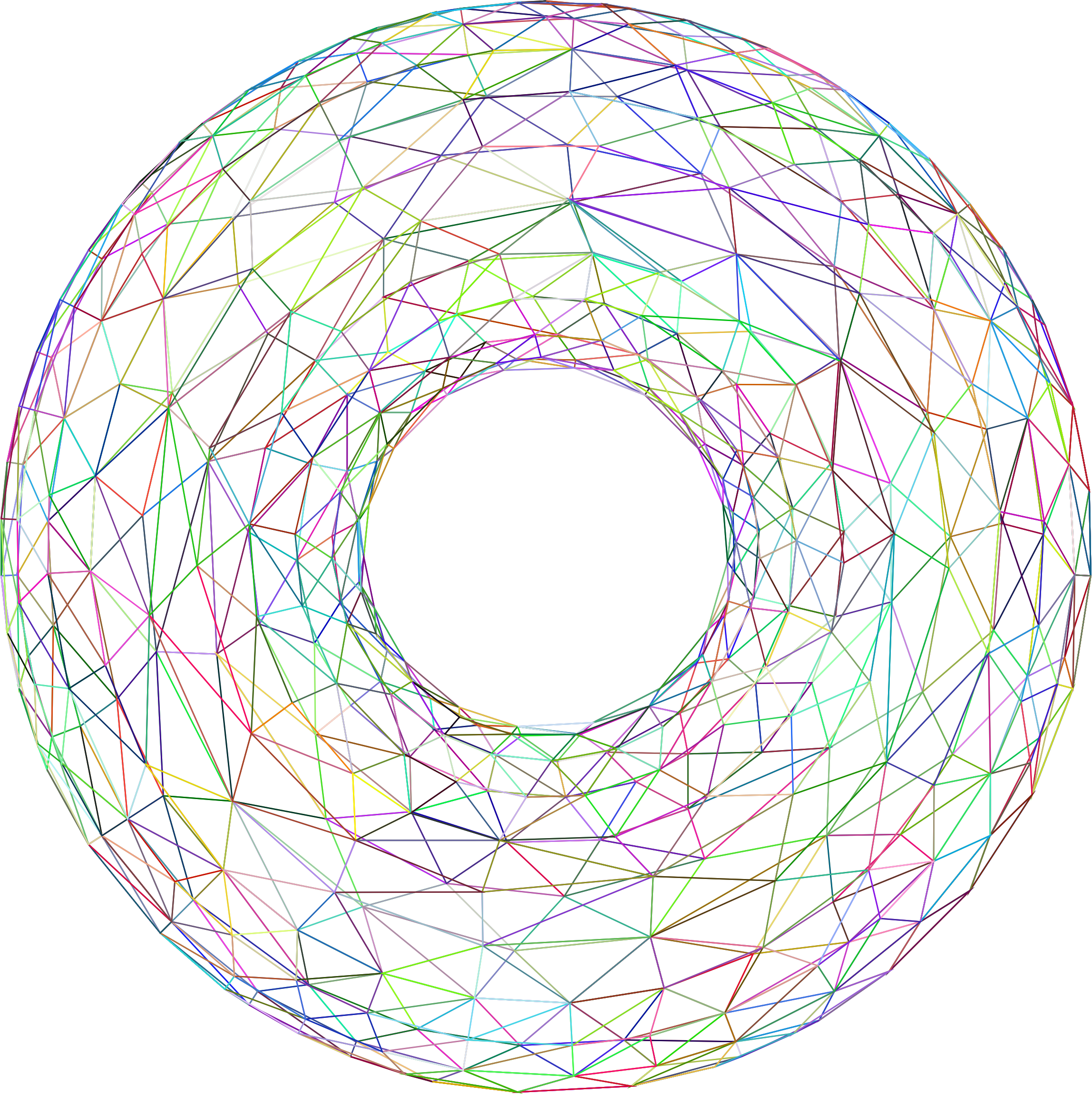 3D Torus Wireframe Prismatic by GDJ